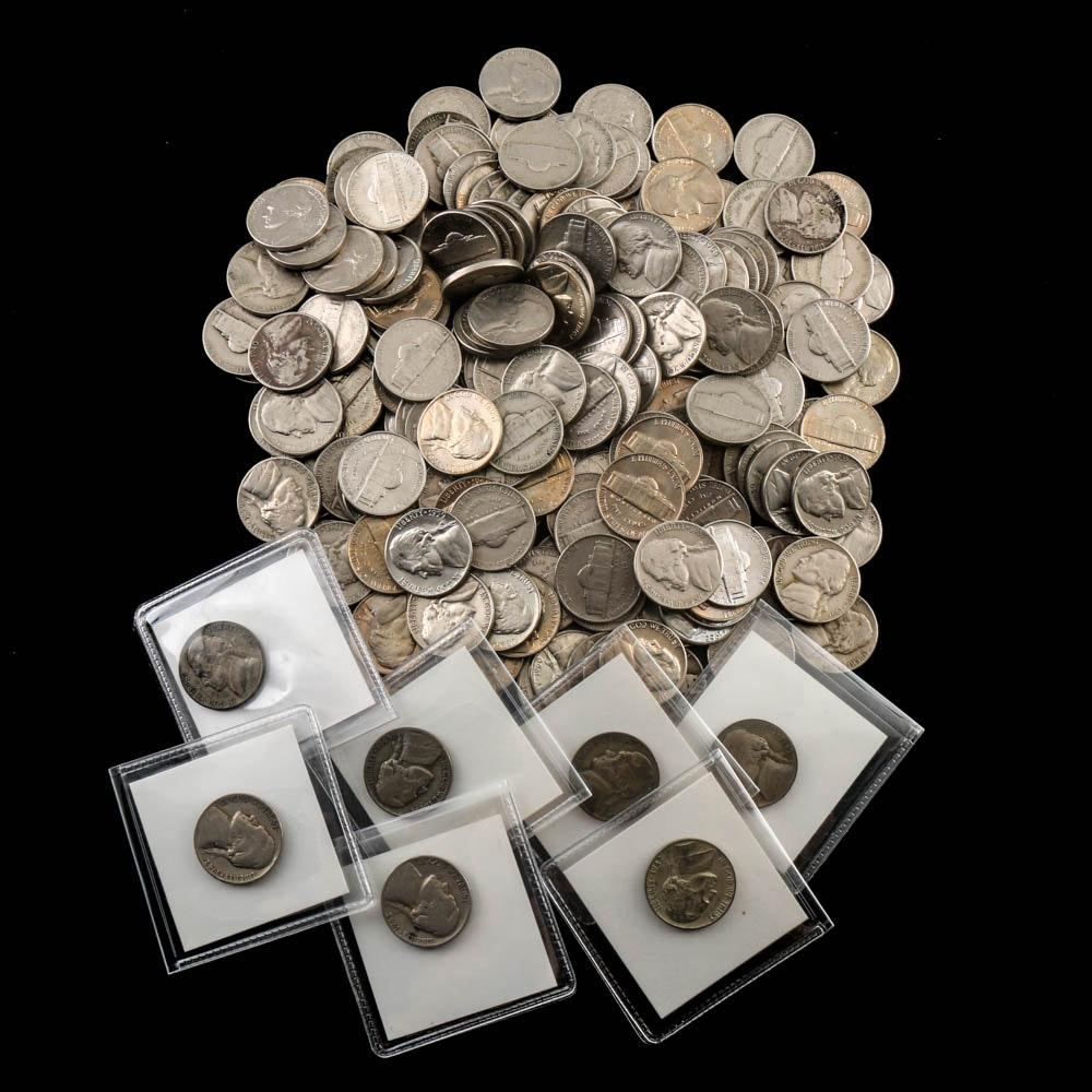 Over 175 Vintage Jefferson Nickels