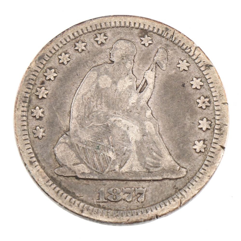 1877 Carson City Liberty Seated Quarter