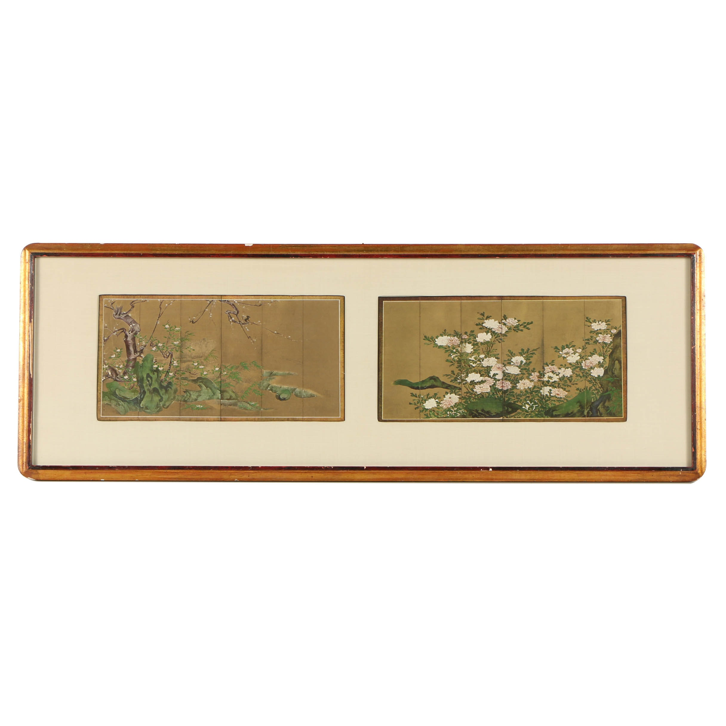 Offset Lithograph After Japanese Folding Screens