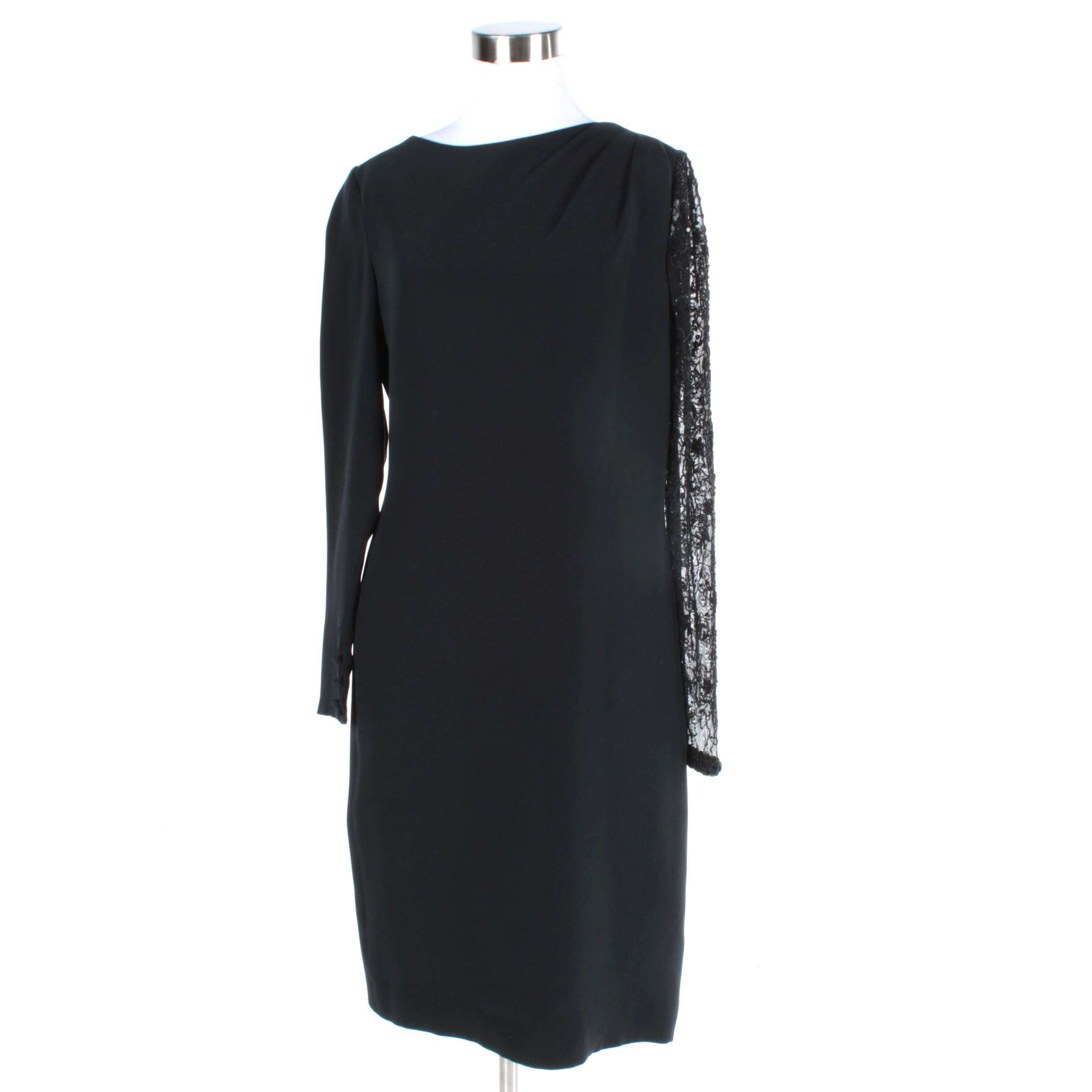 Women's Bill Blass Black Evening Dress