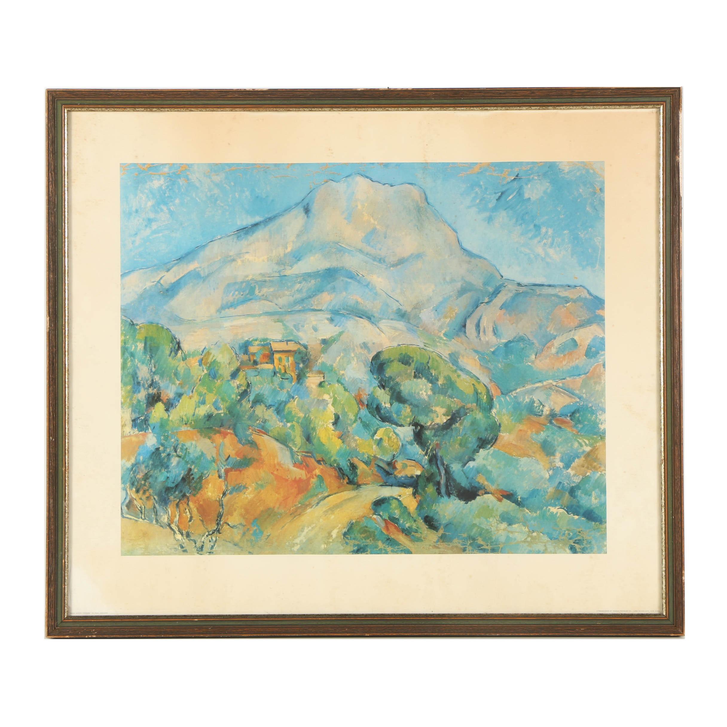 """Offset Lithograph After Paul Cézanne """"Mont Sainte-Victoire"""""""