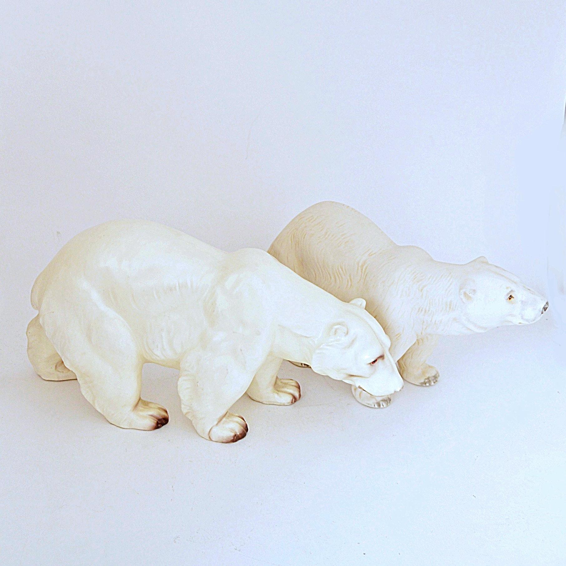 Vintage Porcelain Polar Bear Figurines