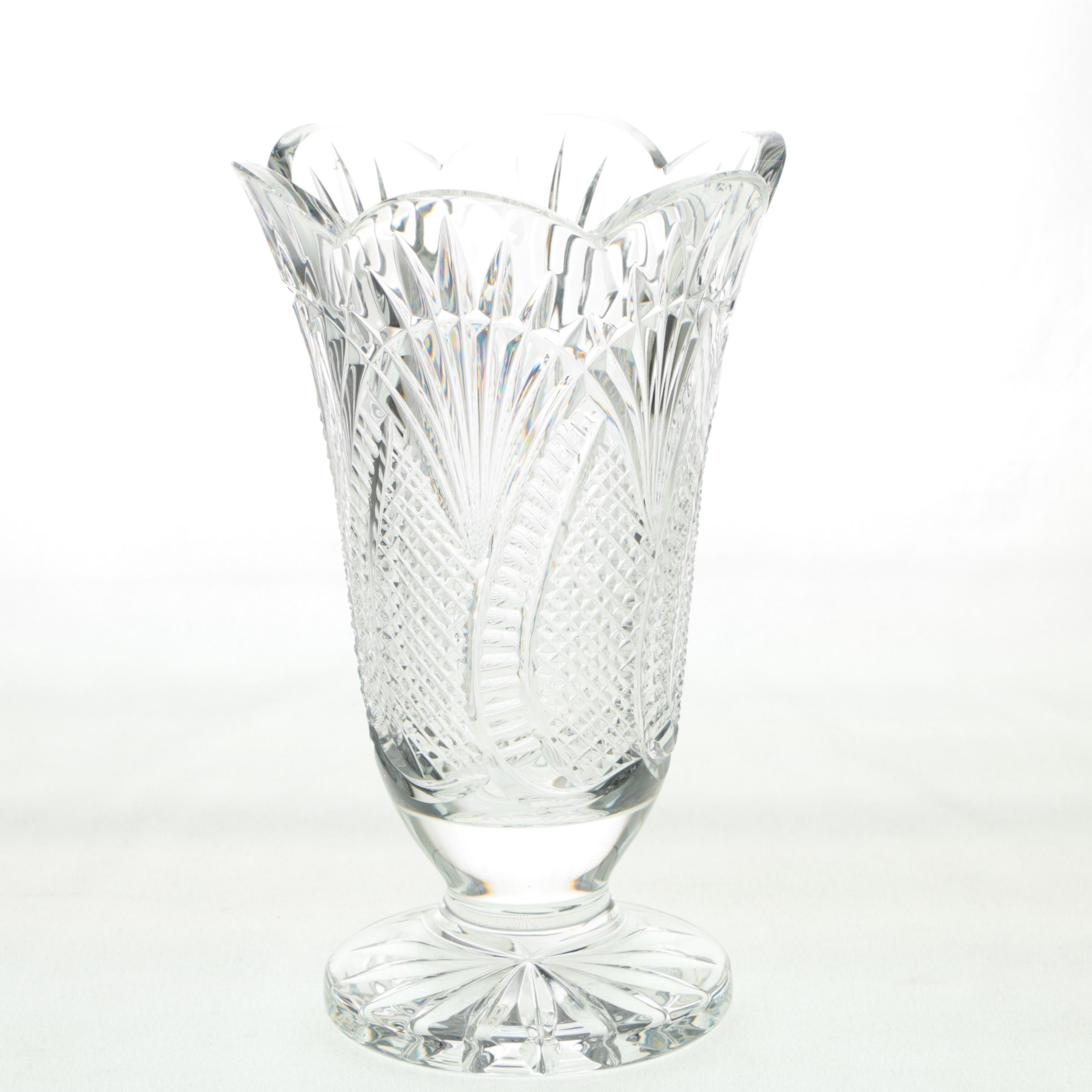 "Waterford Crystal ""Seahorse"" Flower Vase"