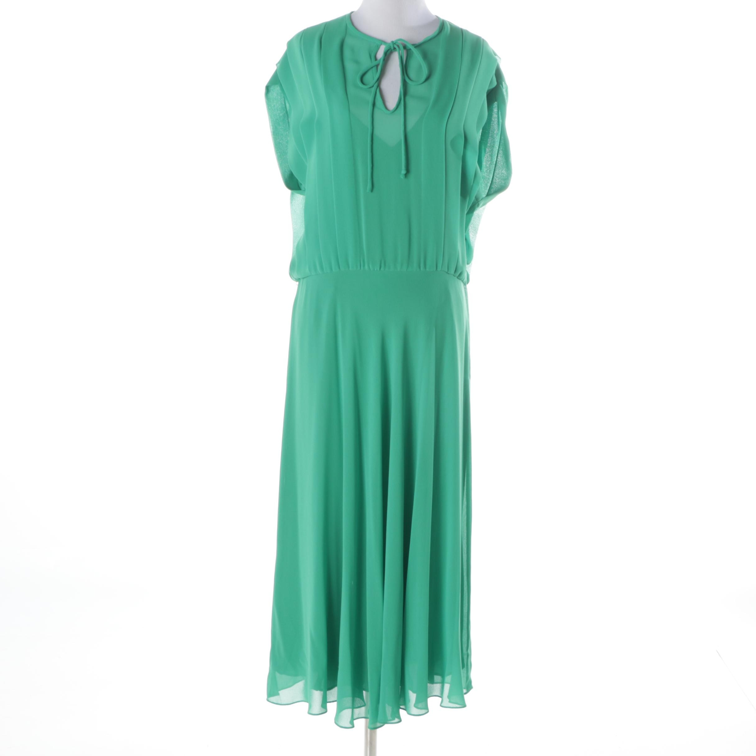 1970s Nipon Boutique Sheer Dress and Slip