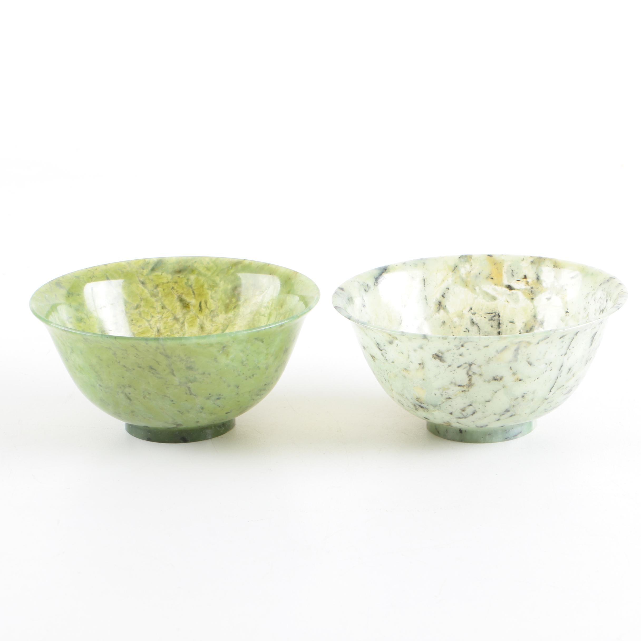 Chinese Serpentine Bowls