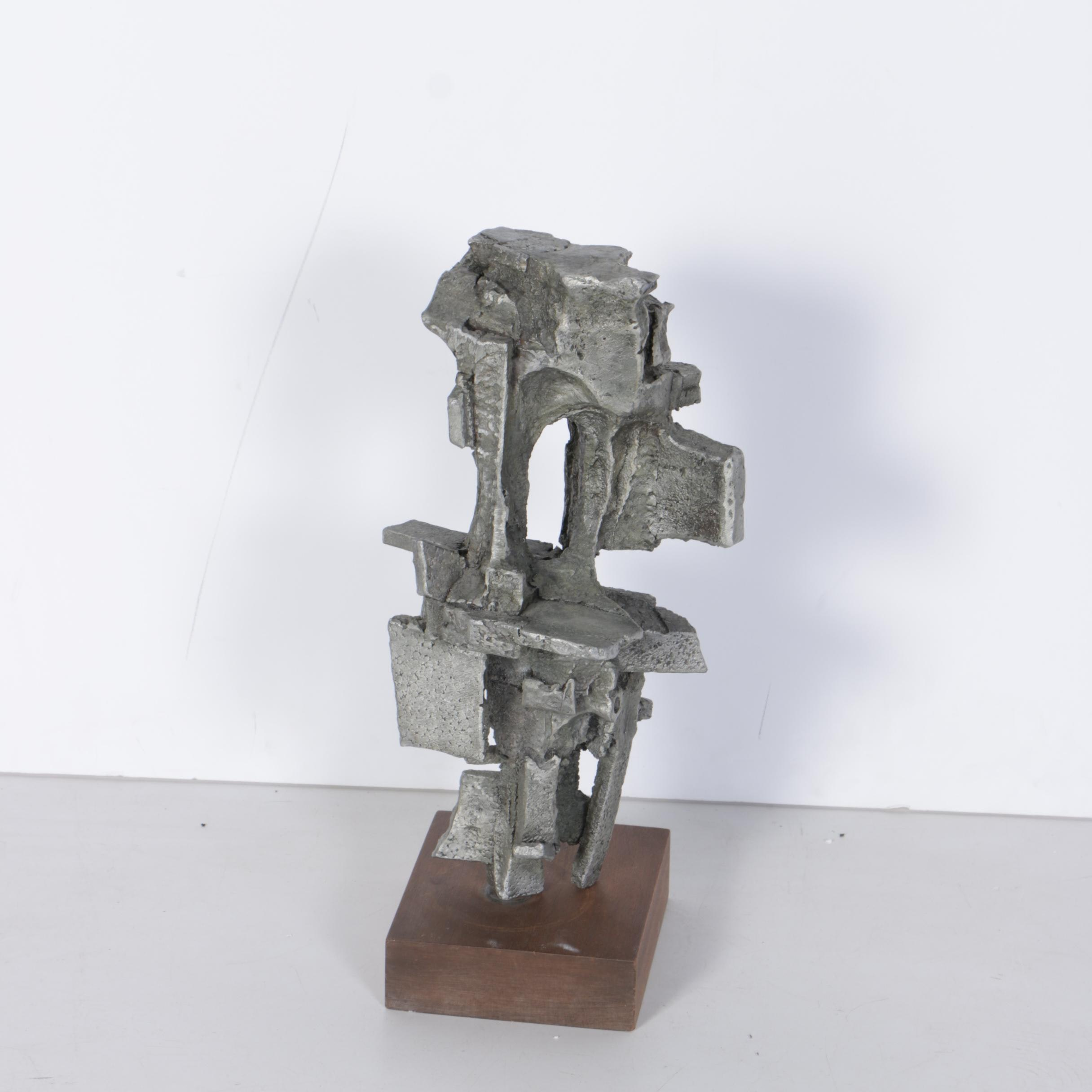 Circa 1970s Abstract Aluminum Sculpture Attributed to Gene Thompson
