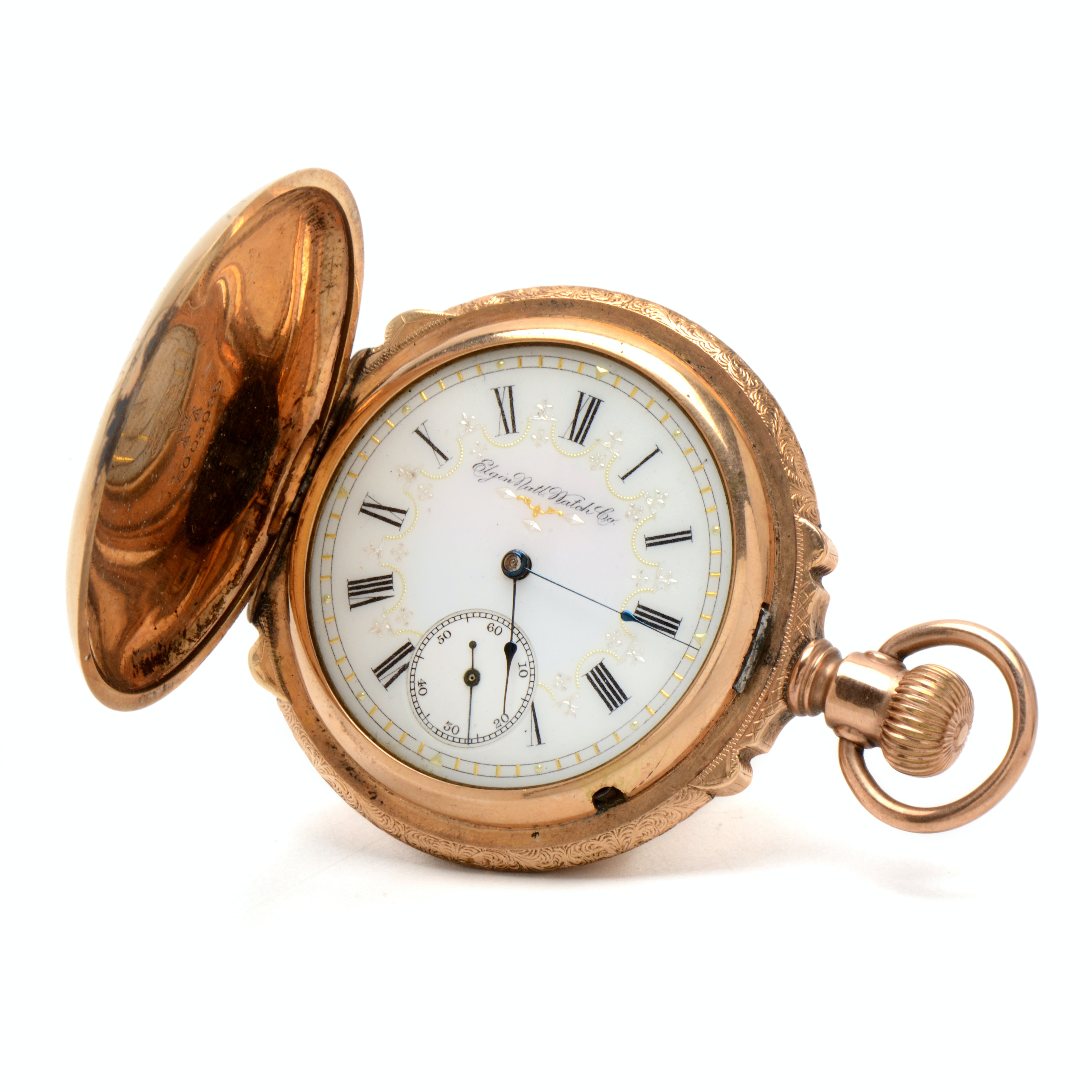 Antique Gold Filled Box Hinged Hunting Case Pocket Watch
