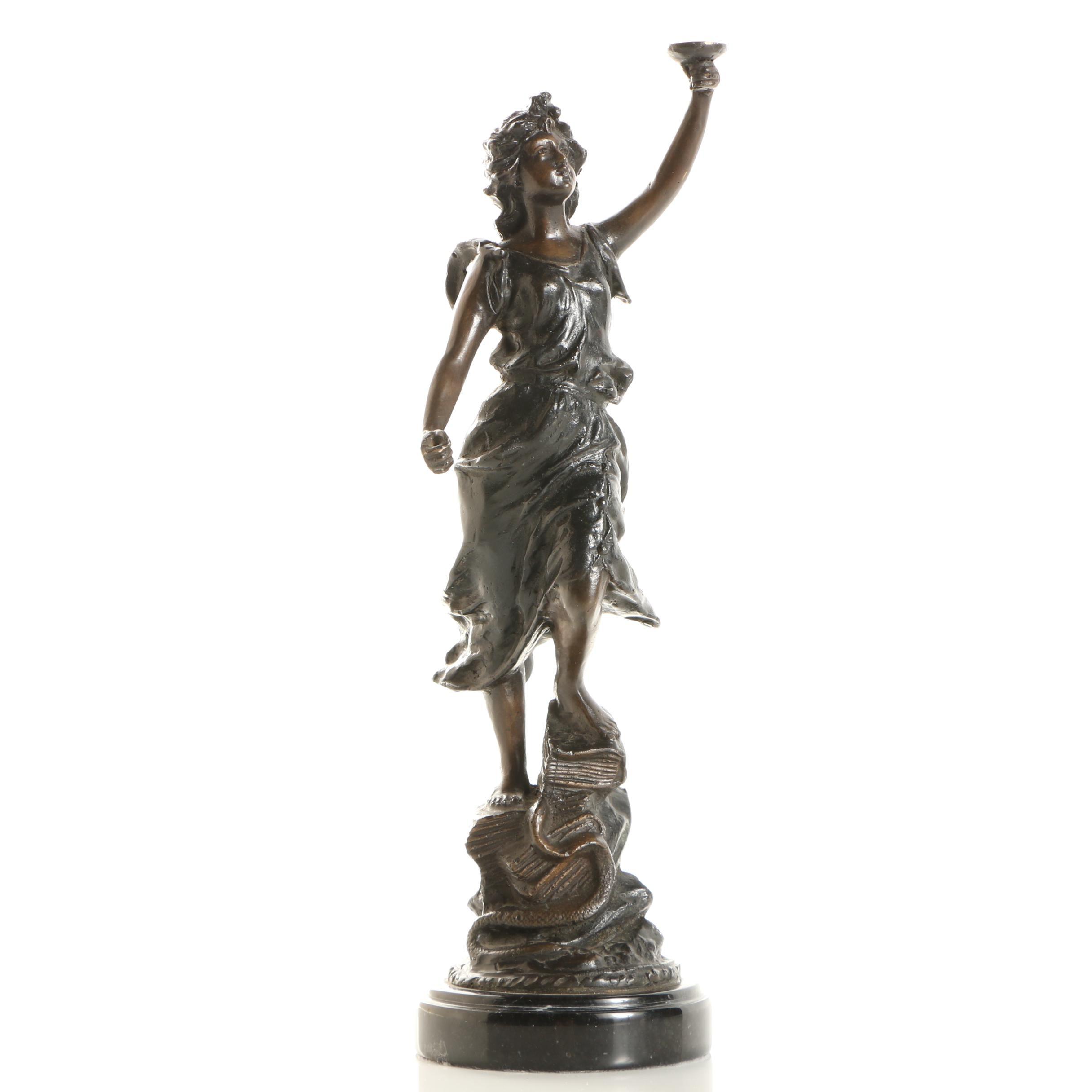 Spelter Sculpture of a Classical Figure