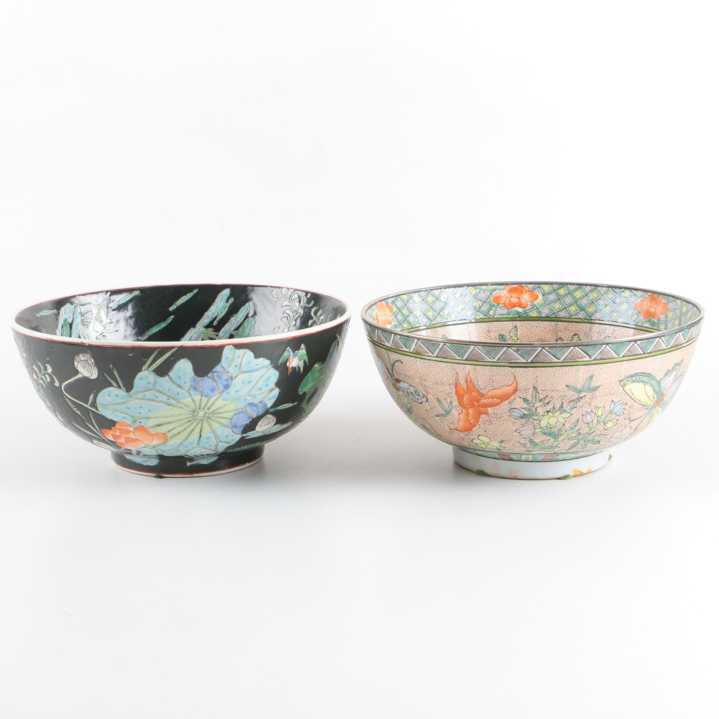 Chinese Export Porcelain Decorative Bowls