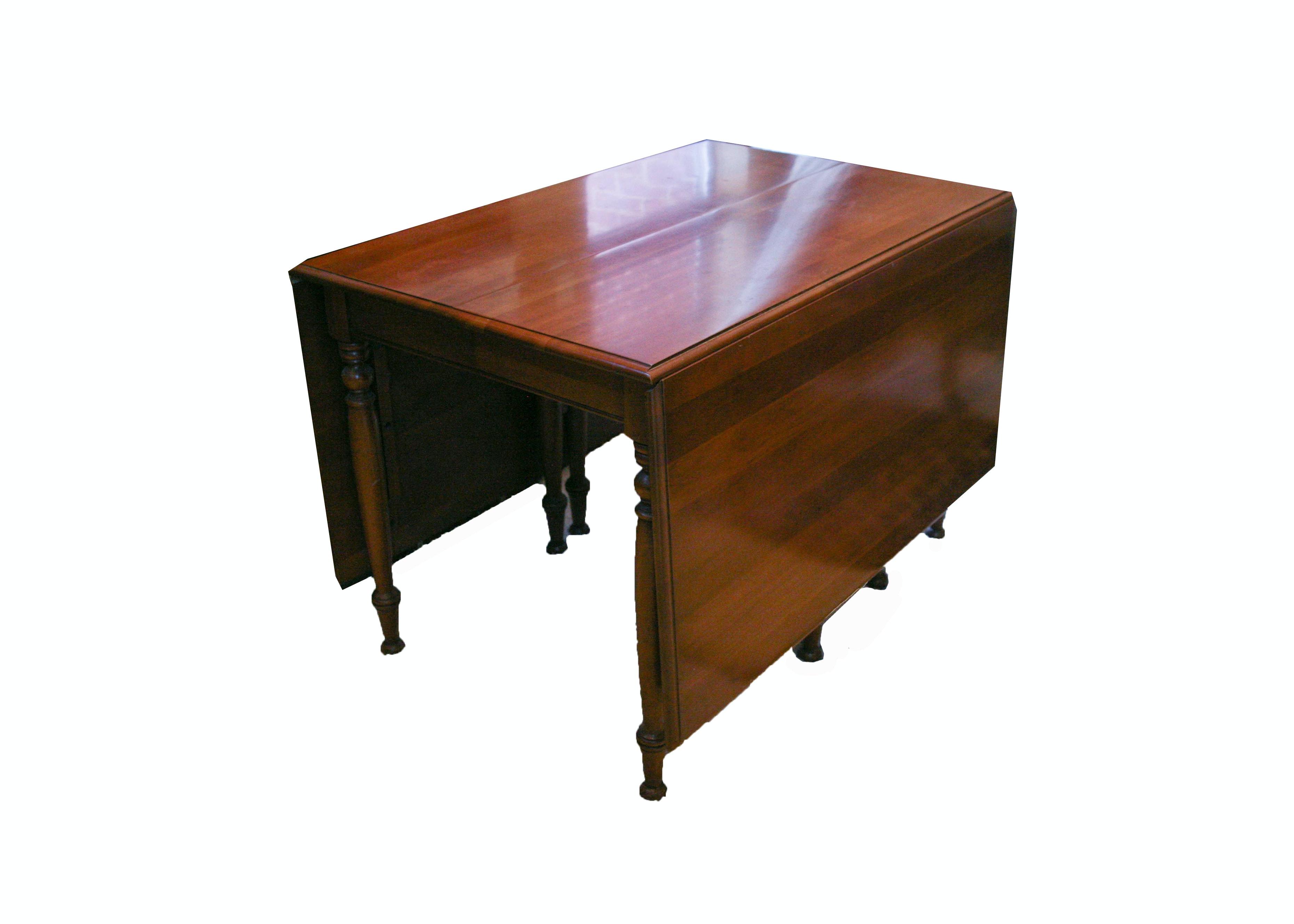 Cherry Drop-Leaf Gate-Leg Table