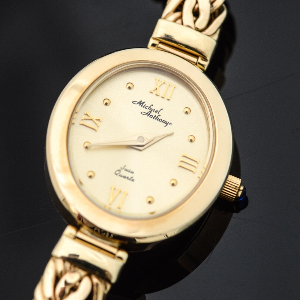 Michael Anthony 14K Yellow Gold Quartz Wristwatch