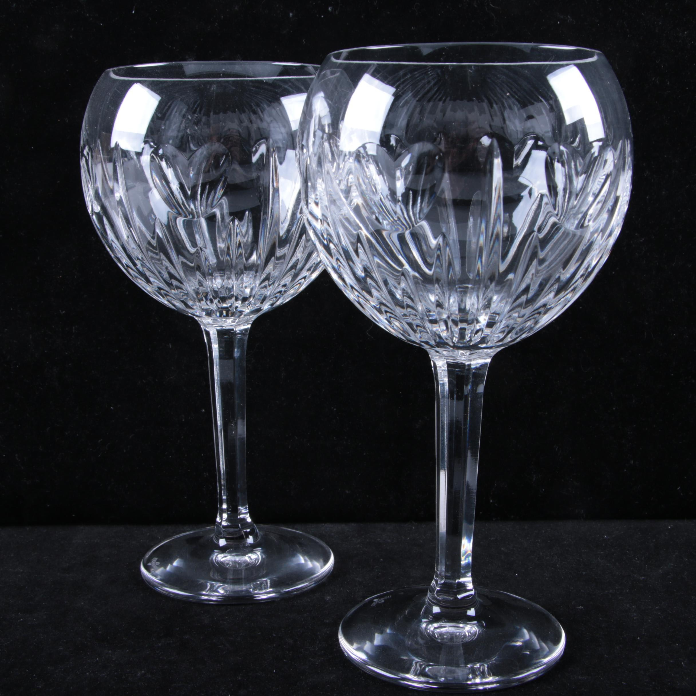 """Waterford Crystal """"Millennium Collection: Love"""" Toasting Goblets"""