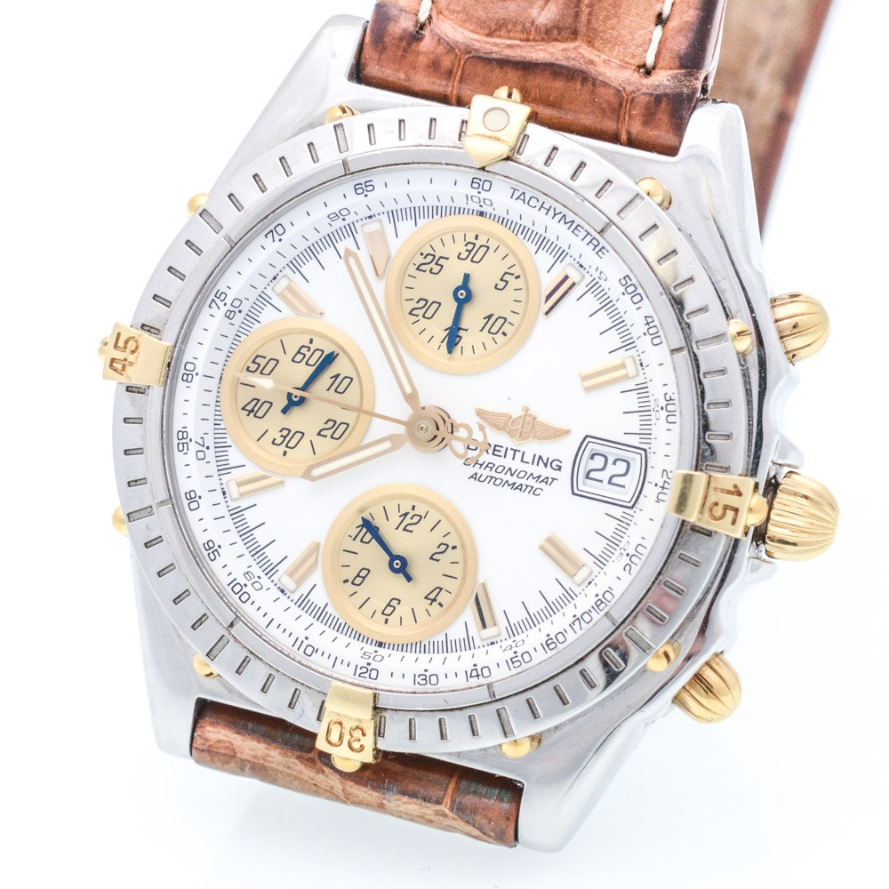 Breitling Avenger Chronograph Watch With 14K Gold Accents