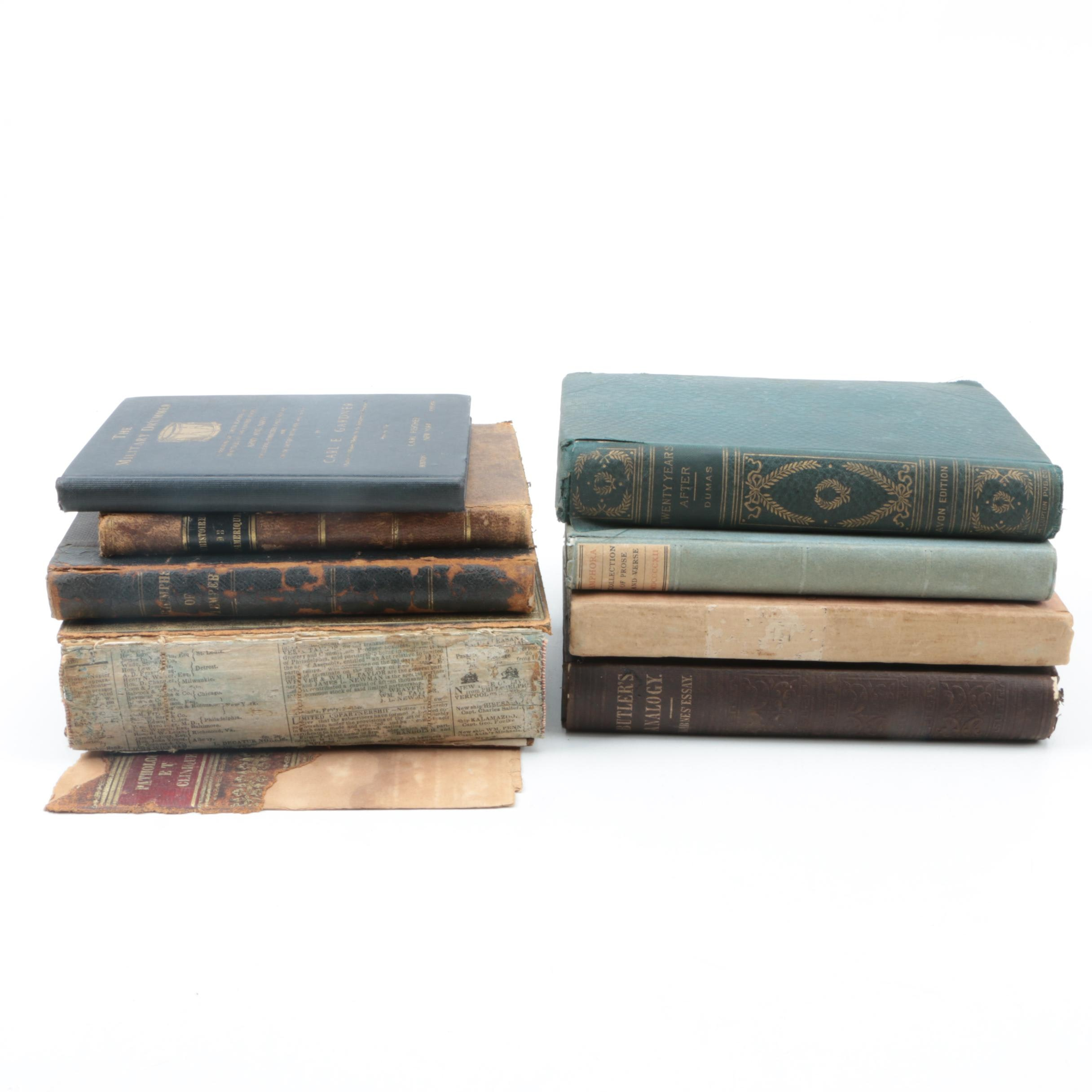 """Antique Books Including 1804 """"The Triumphs of Temper: A Poem"""" by William Hayley"""