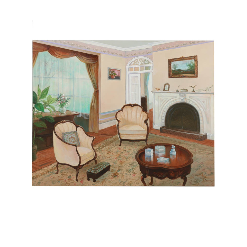 Eddie Wong Oil Painting of a Parlor