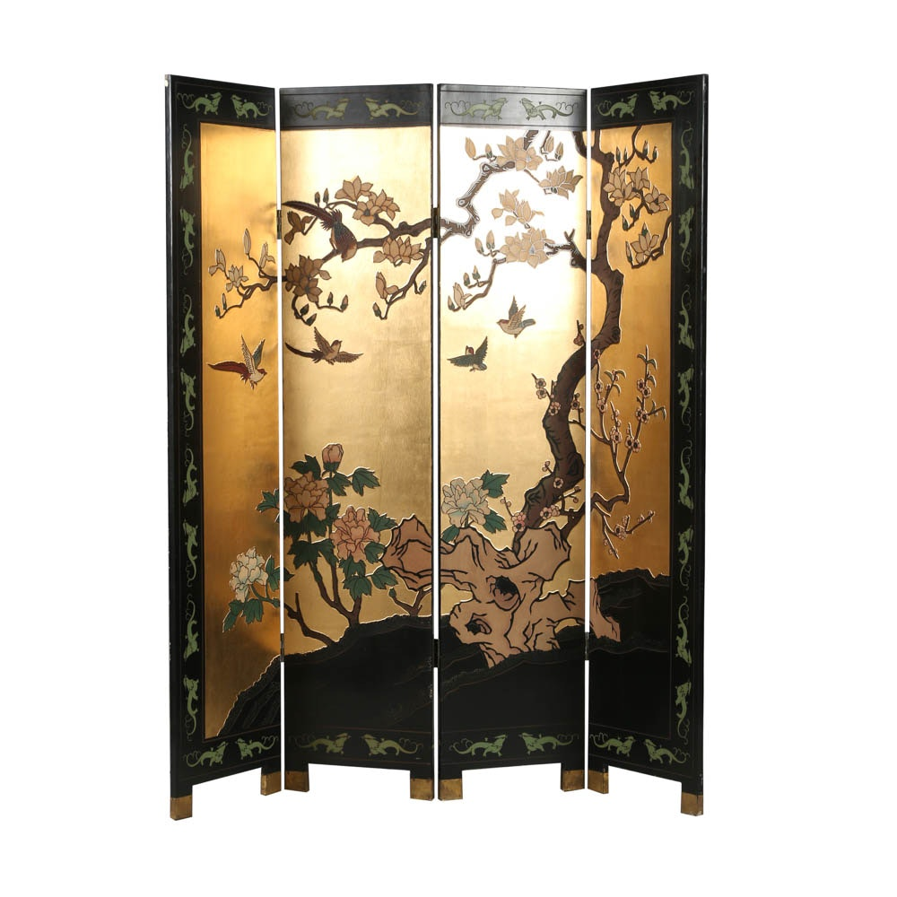 Chinese Hand-Painted Screen