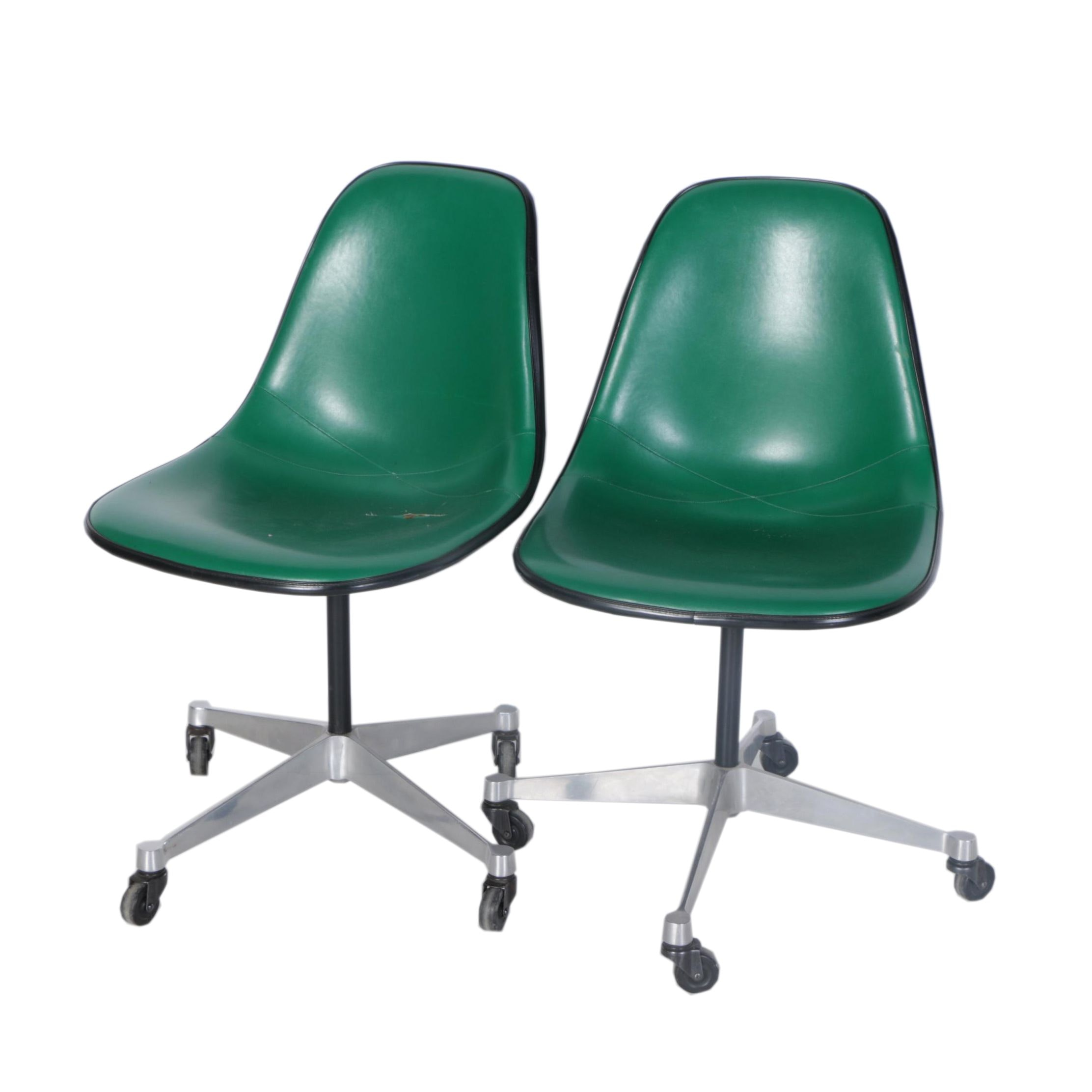Pair of Eames for Herman Miller Mid Century Modern Chairs