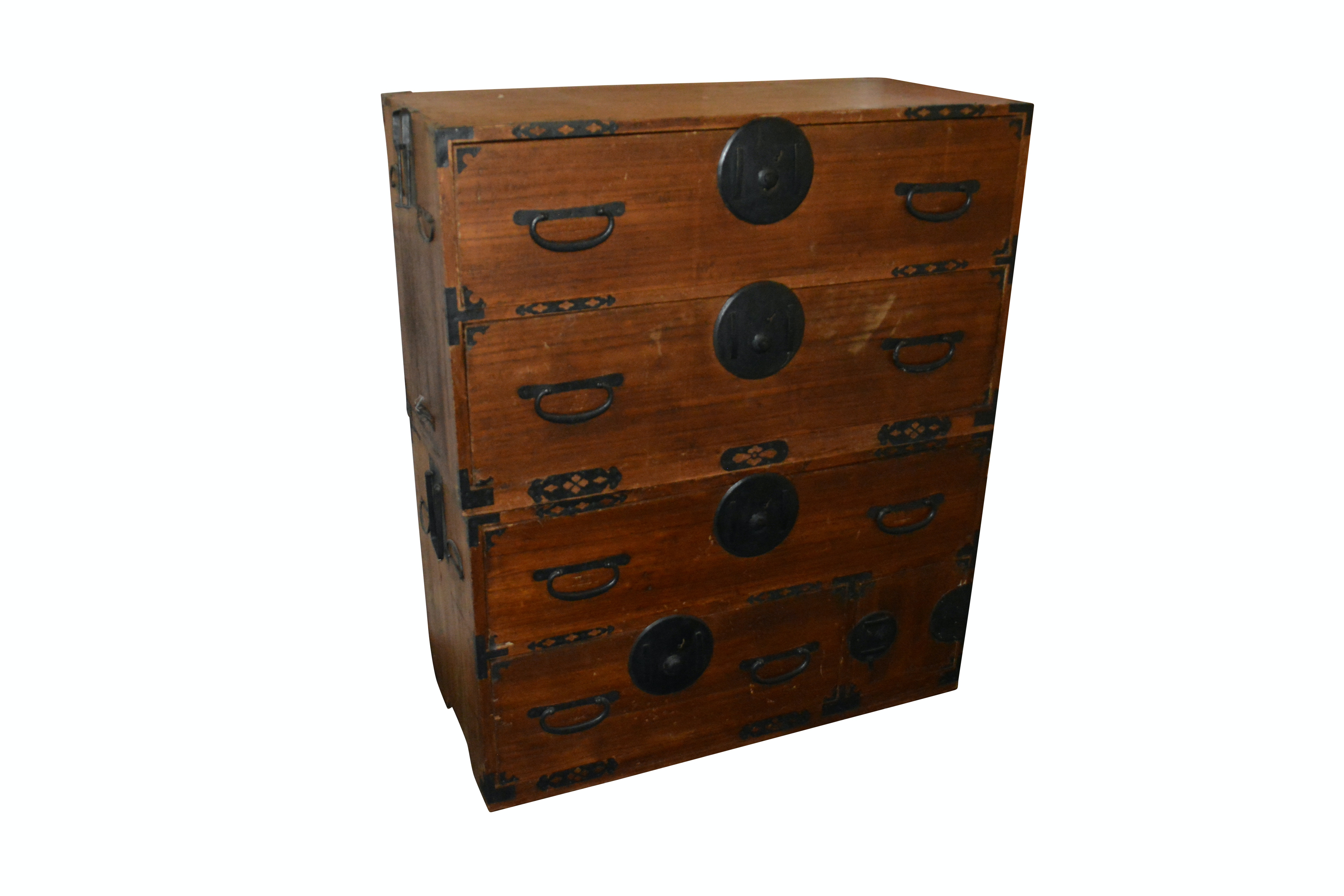Antique Japanese Stacking Campaign Chests