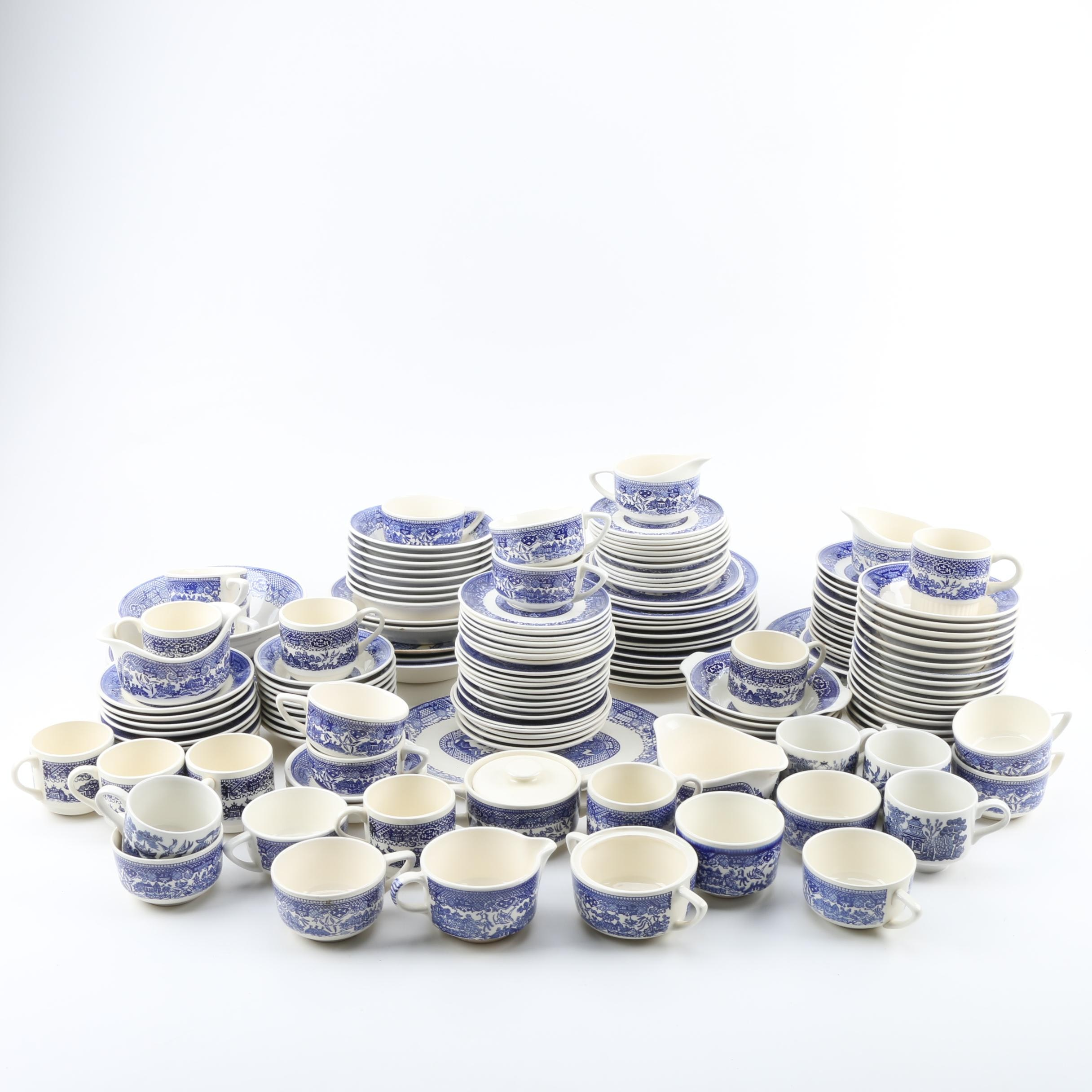 """Blue Willow"" Ceramic Tableware Featuring Royal China"