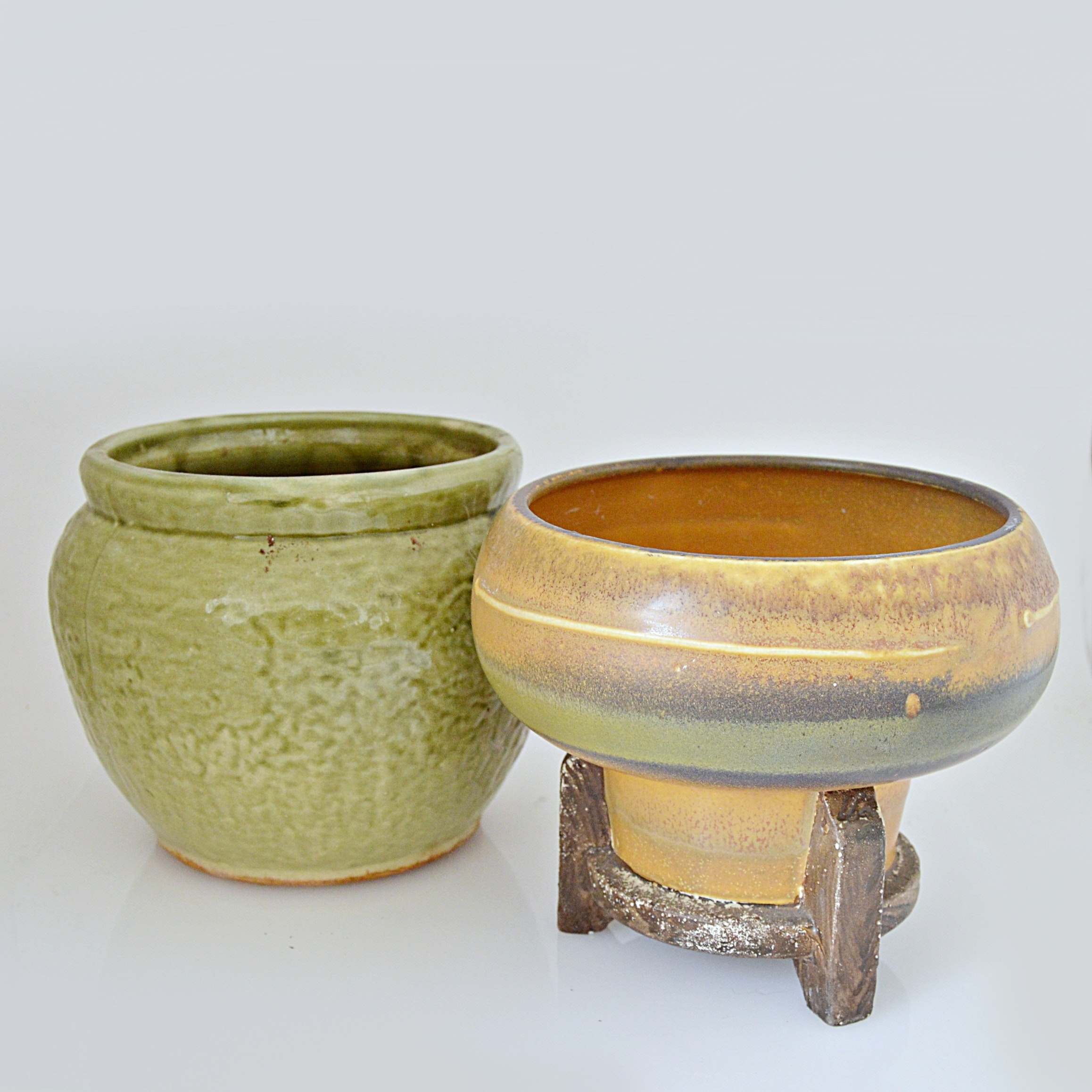 Vintage Cast Stoneware and Ceramic Vessels