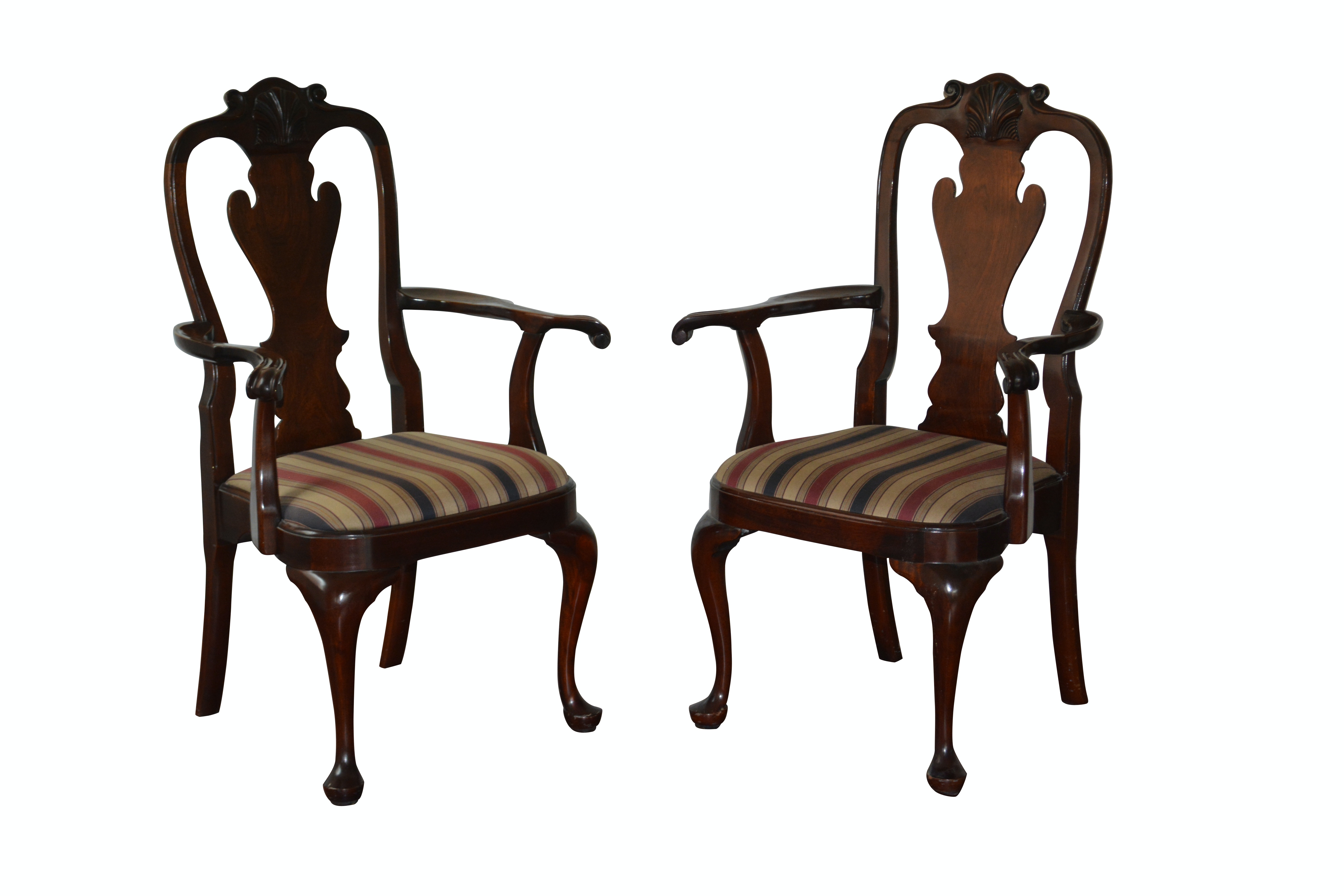 Pair of Queen Anne Style Armchairs by Stickley