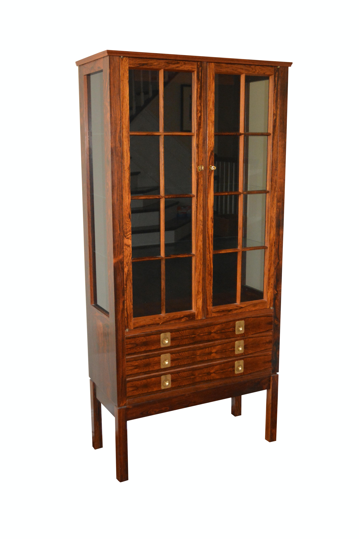 Scandinavian Modern Rosewood Display Cabinet