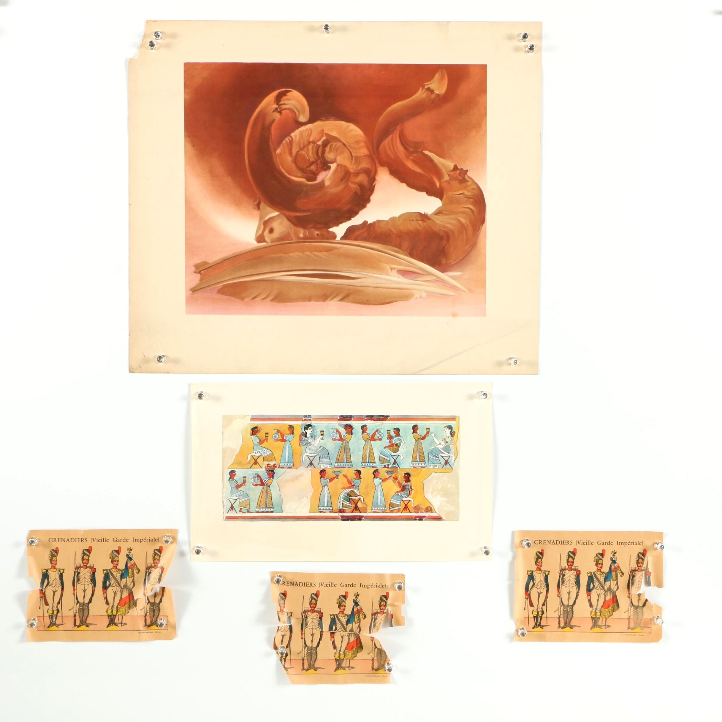 "Offset Lithographs Including ""Horn and Feathers"" After Georgia O'Keeffe"