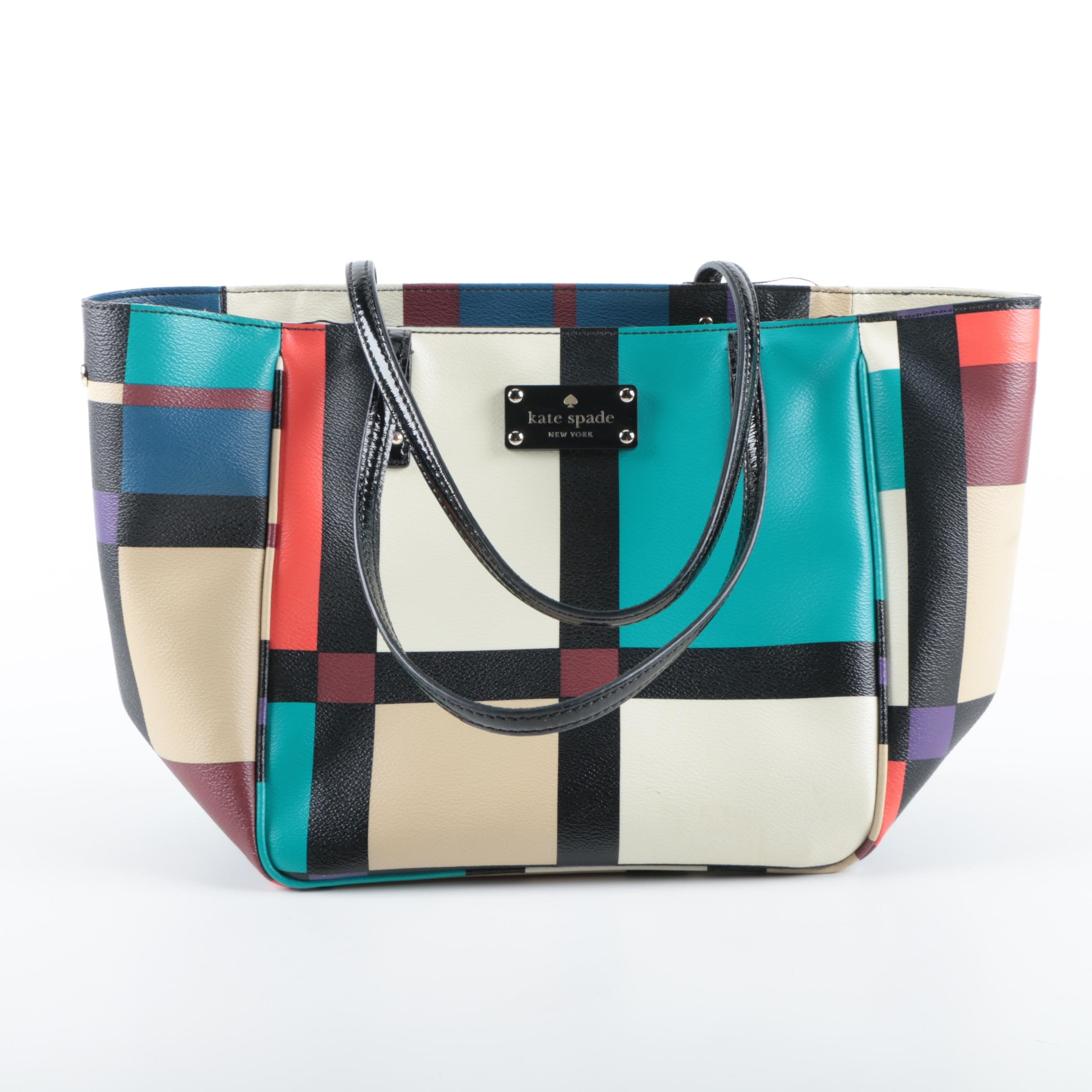 Kate Spade New York Perry Street Plaid Tote