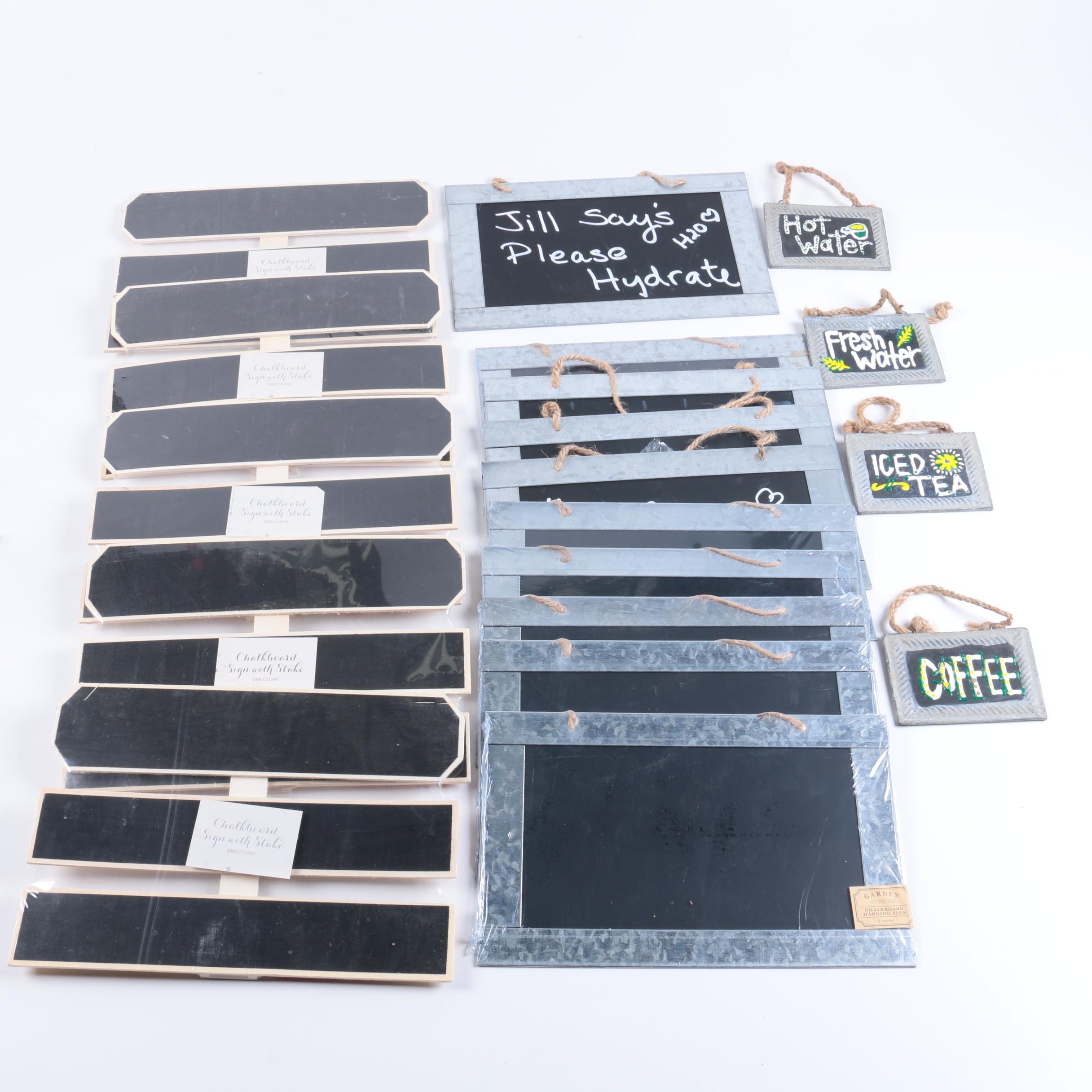 Metal Chalkboard Hanging Signs