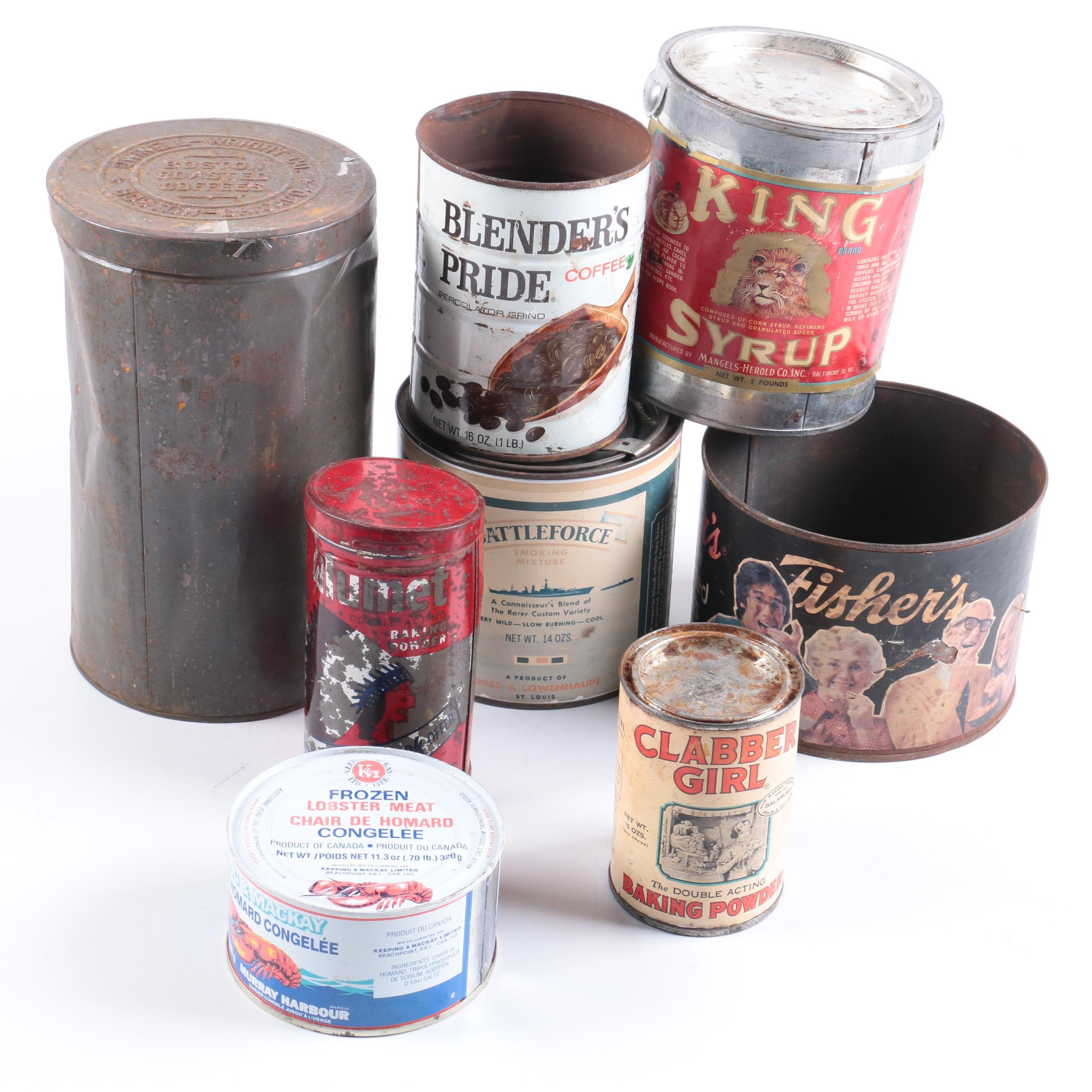 Vintage Consumables Tins