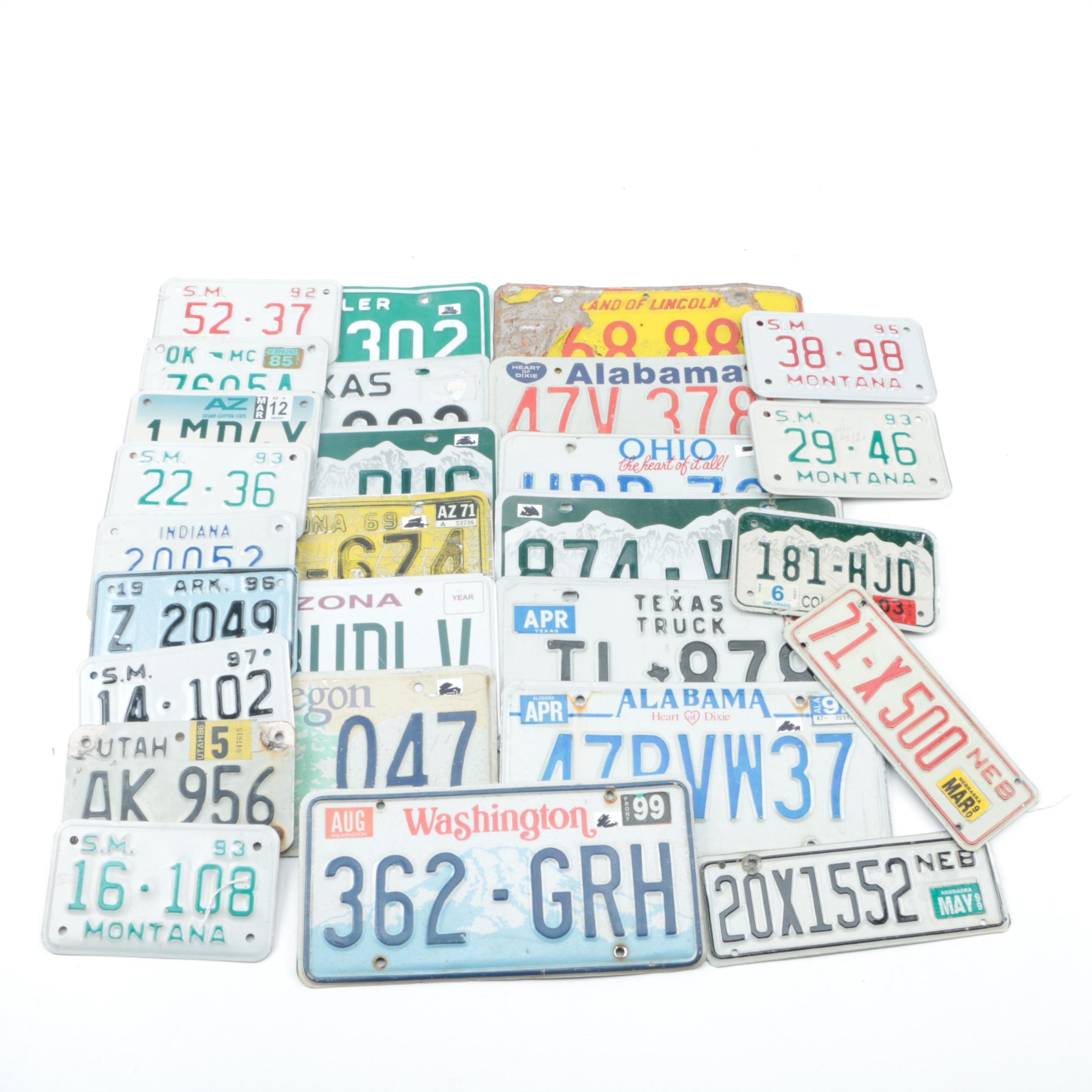 License Plates From Arizona, Montana, Colorado, Ohio and More
