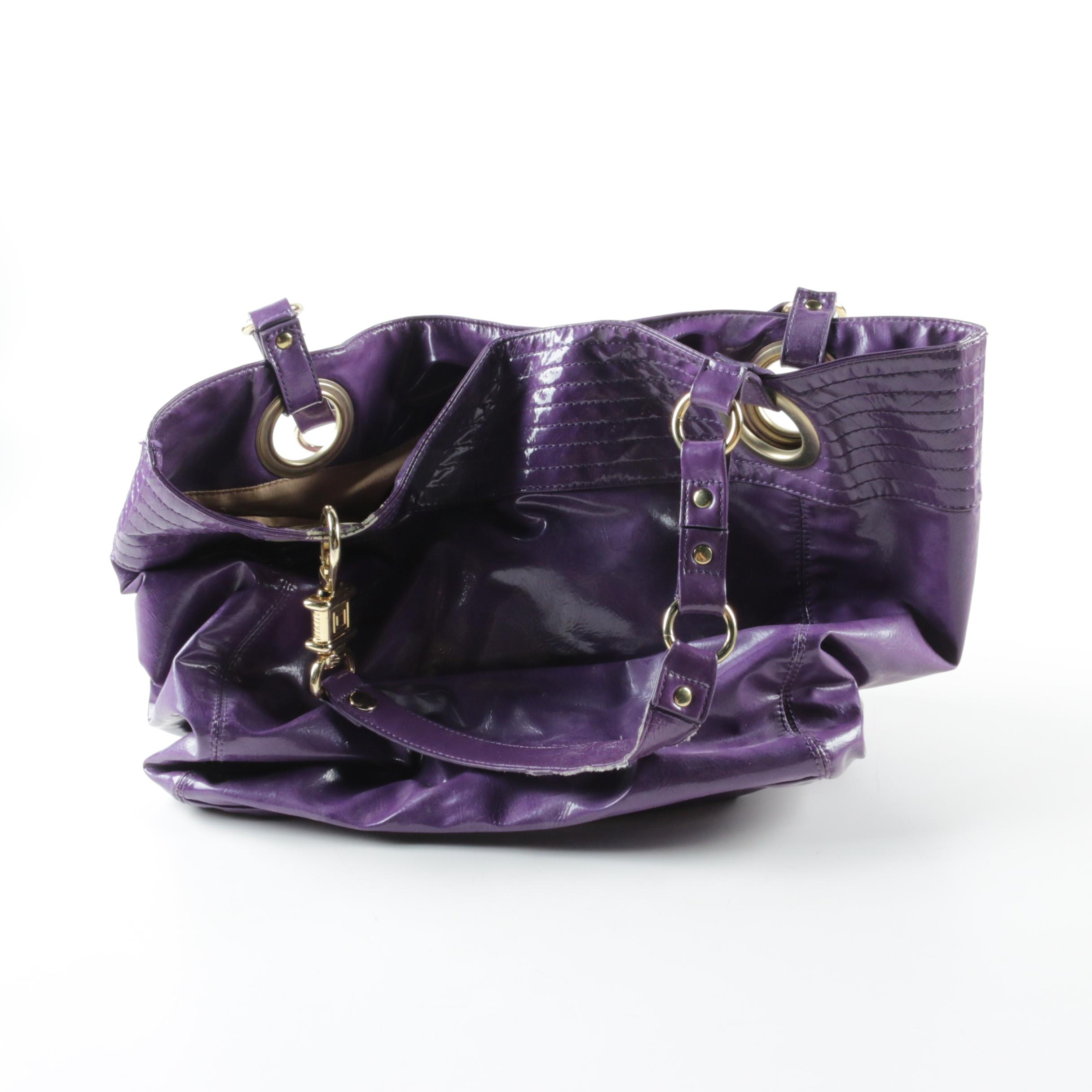 Steven by Steve Madden Purple Tote Bag