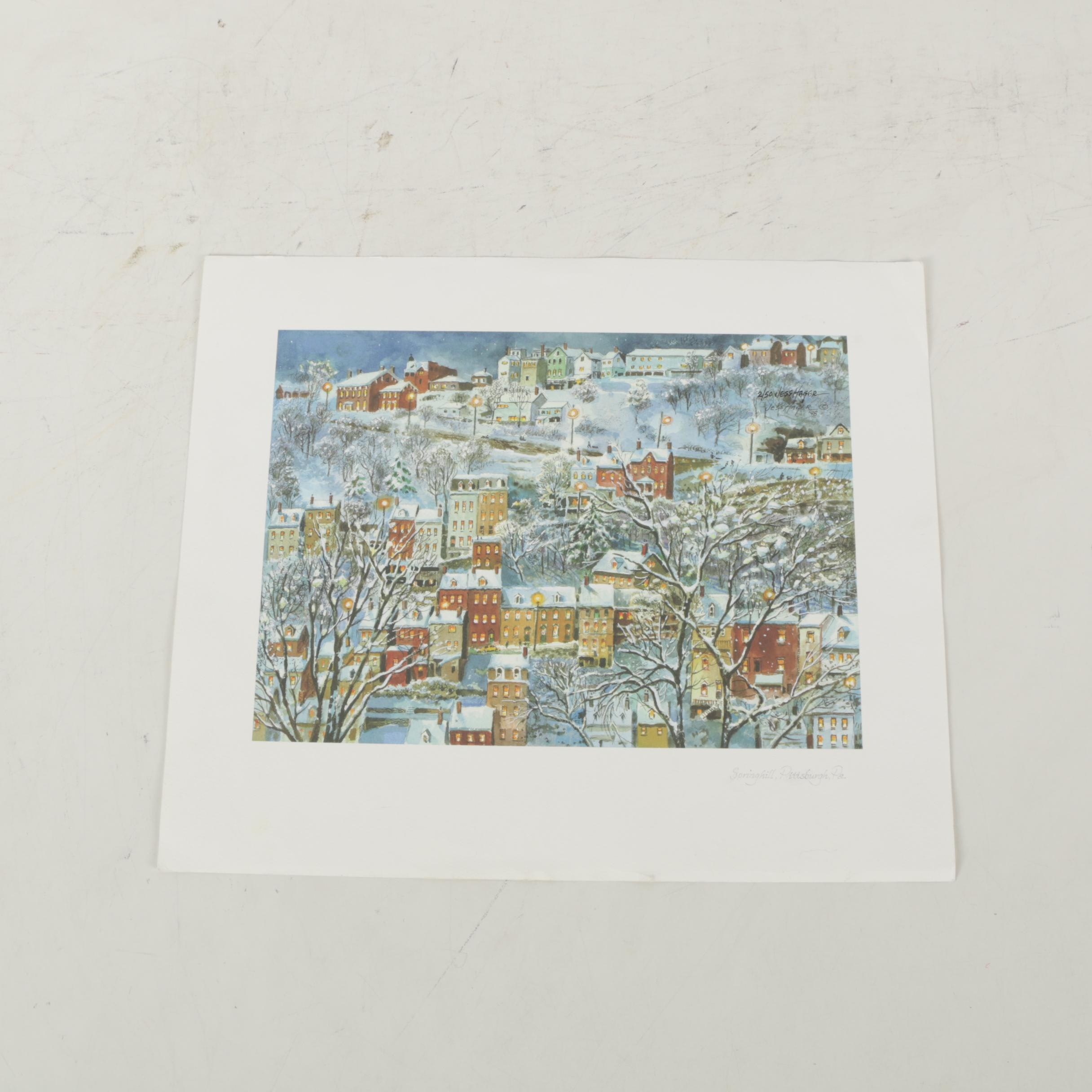 """Jess Hager Giclee """"Springhill, Pittsburgh, PA"""""""