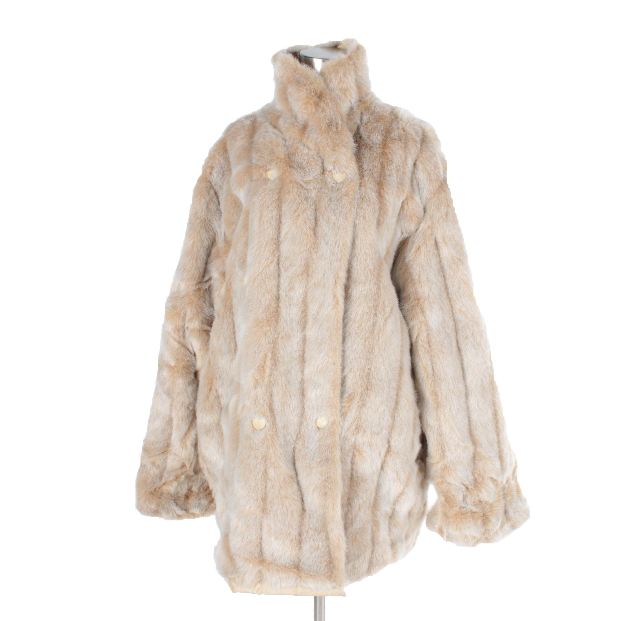 Women's Vintage Faux Fur Coat