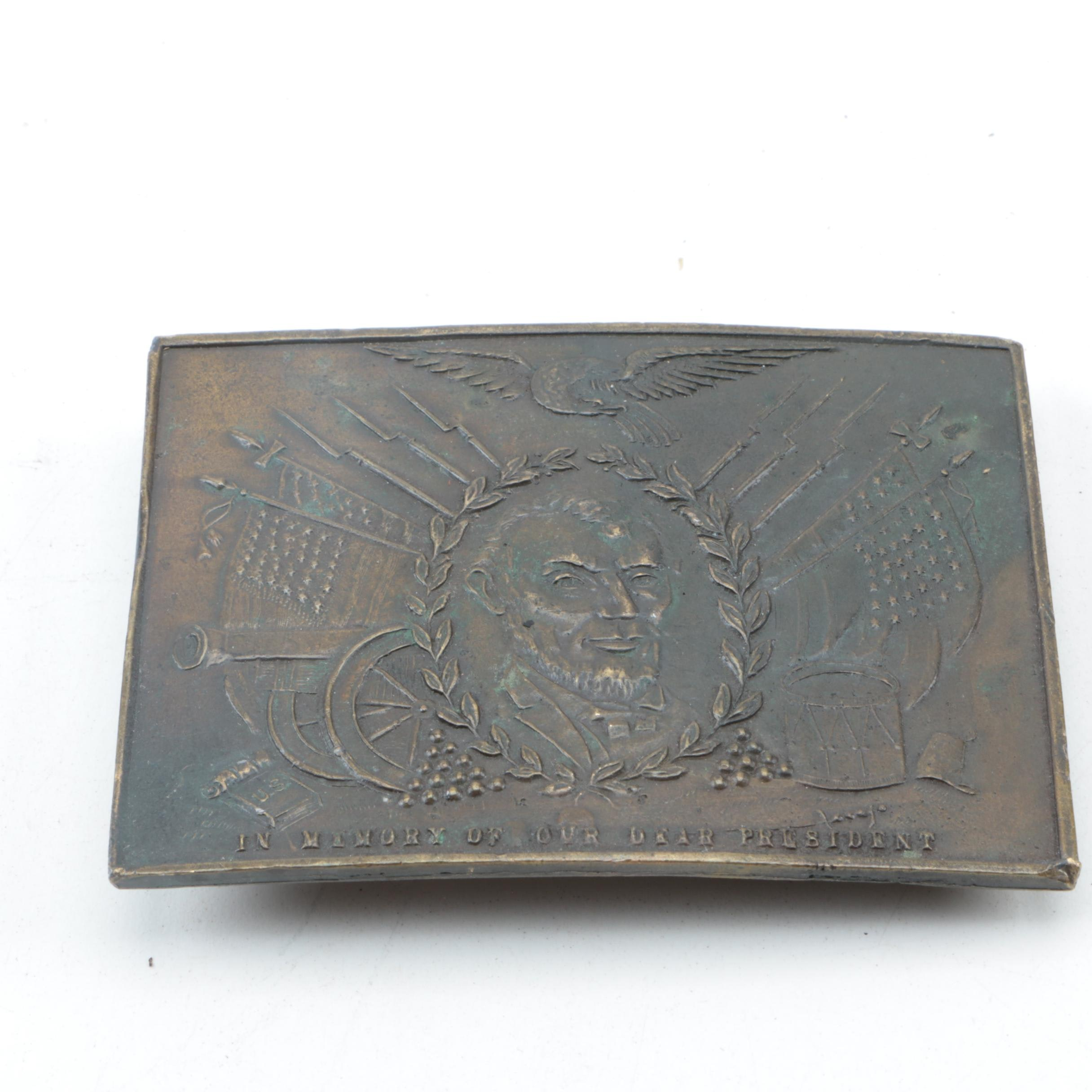 Abraham Lincoln Commemorative Belt Buckle