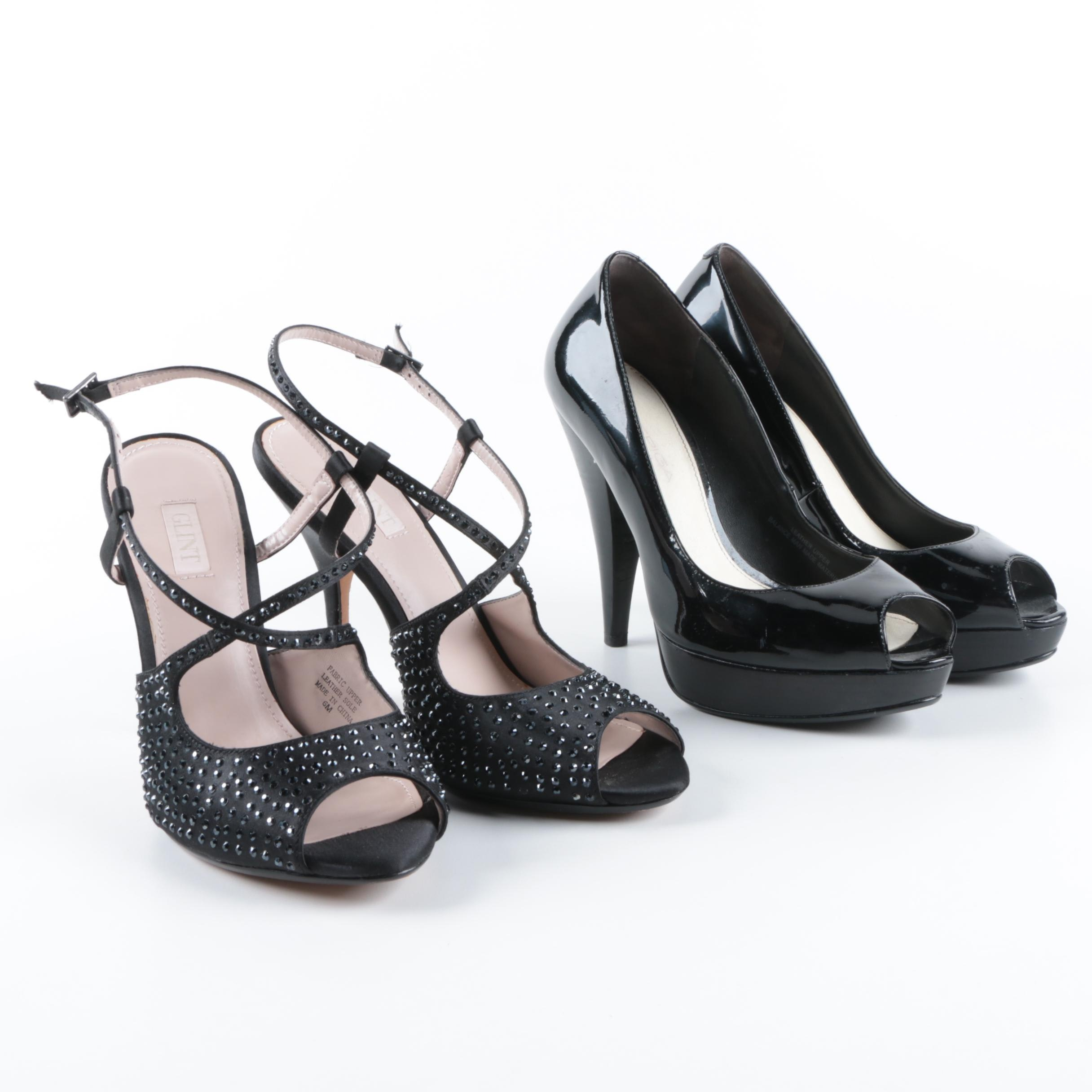 Via Spiga and Glint Black High Heels