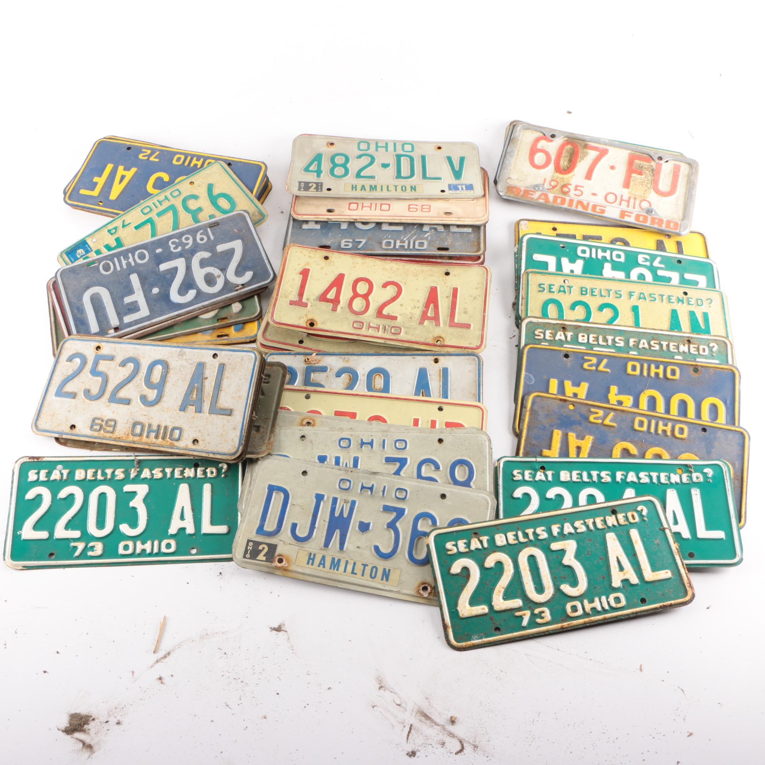 Vintage Ohio License Plates
