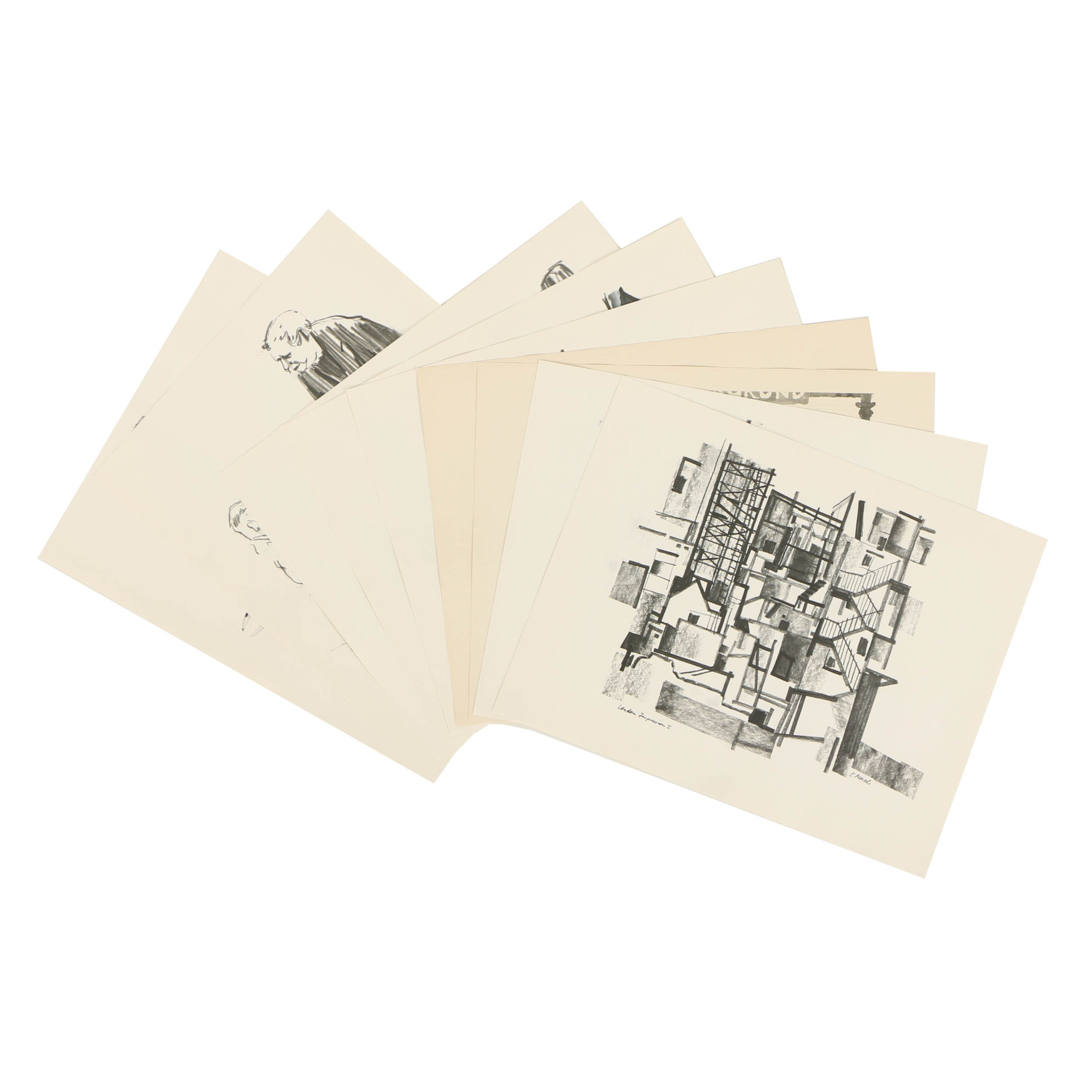 Portfolio of Offset Lithographs and Halftone Prints