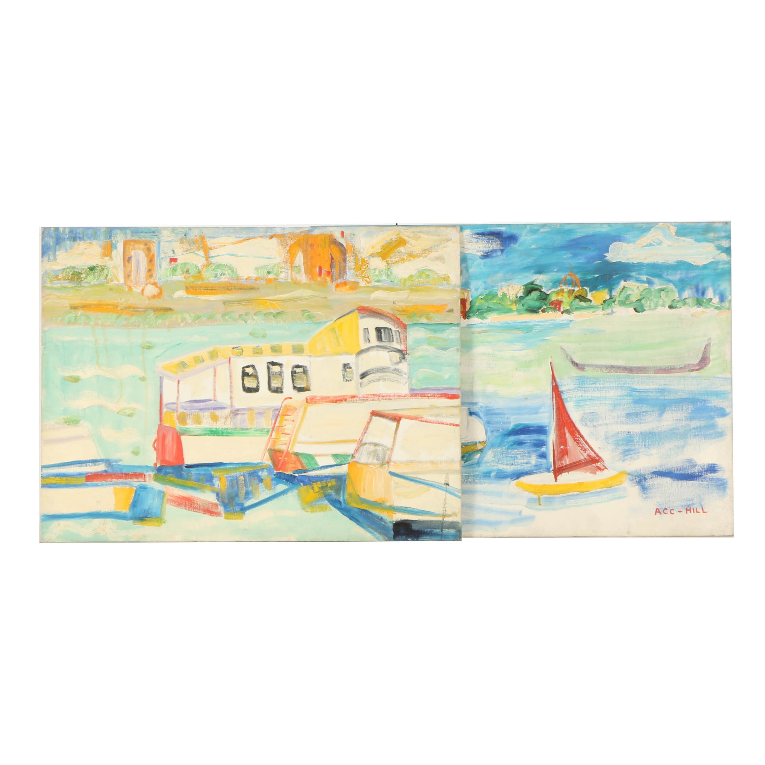 Oil Paintings of Boats