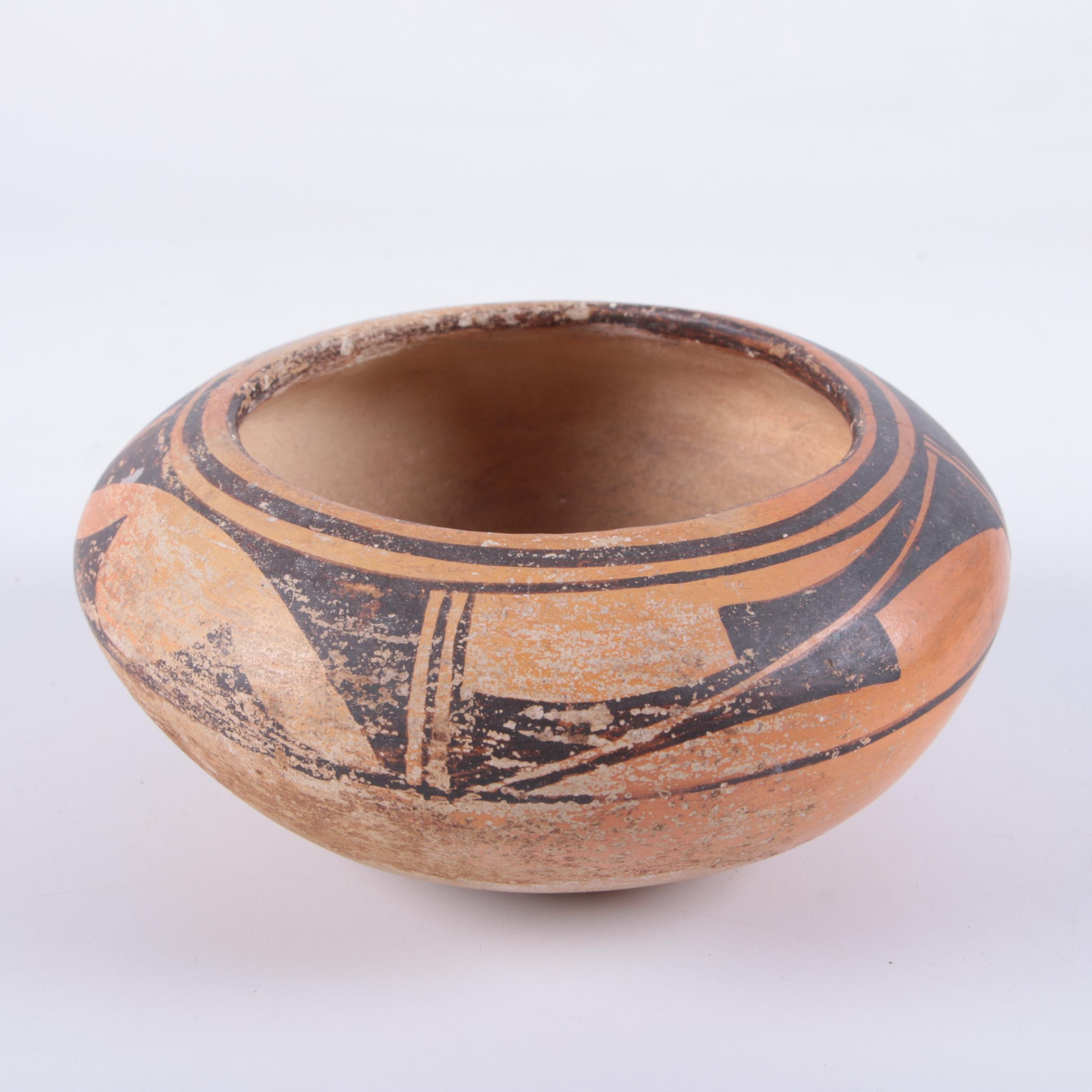 Vintage Native American Style Pottery Bowl