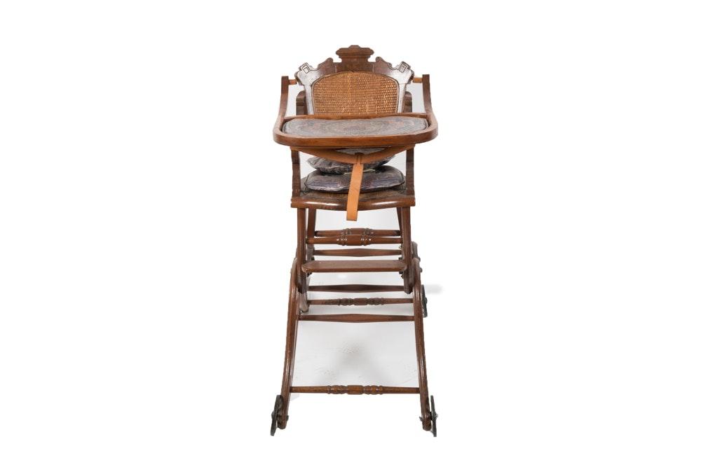 Victorian Convertible High-Chair / Stroller