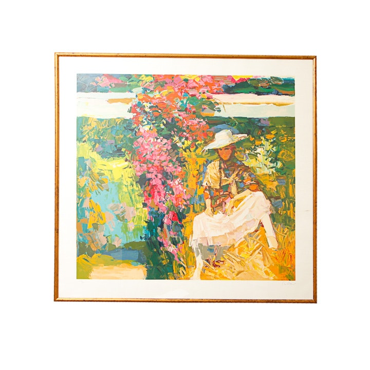 "Nicola Simbari Serigraph Print ""Il Giardino"""