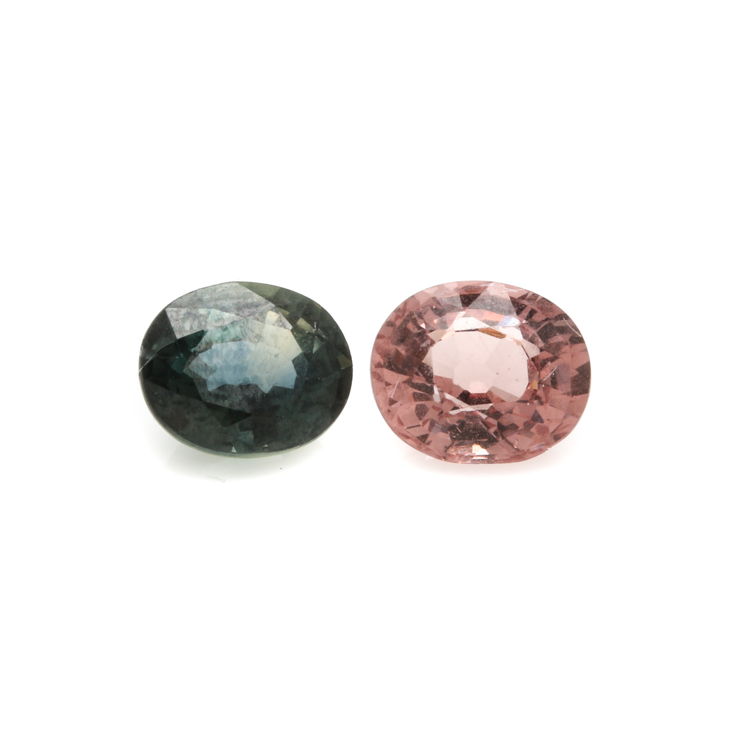 Selection of Loose 1.07CT Pink Sapphire and 1.21 CT Color Change Sapphire