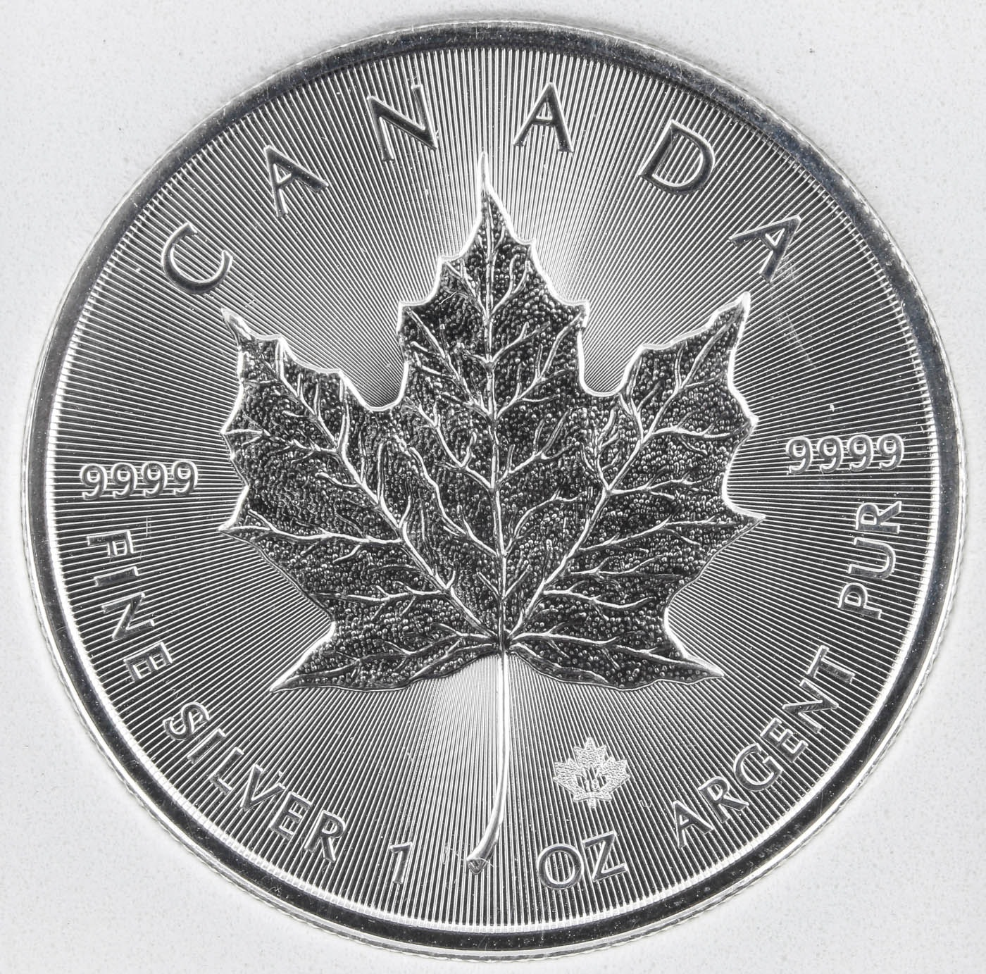 Encapsulated 2018 Canadian Five Dollar Maple Leaf Silver One Troy Ounce Coin