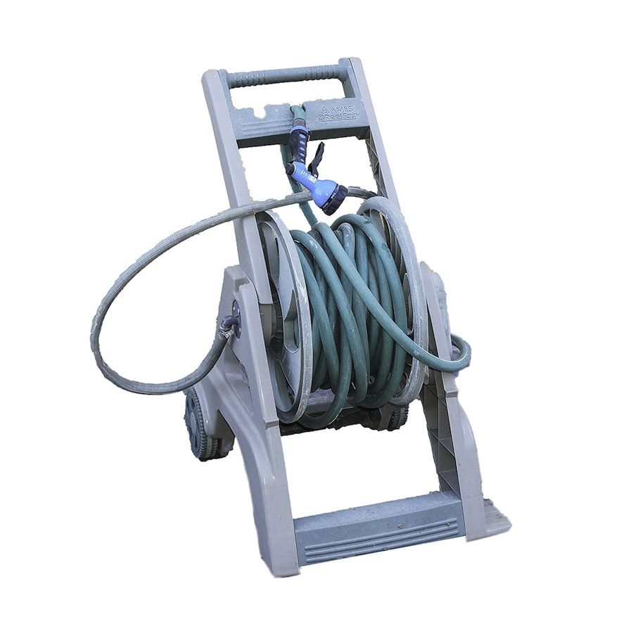 Ames Reel Easy Garden Hose And Winding Holder With