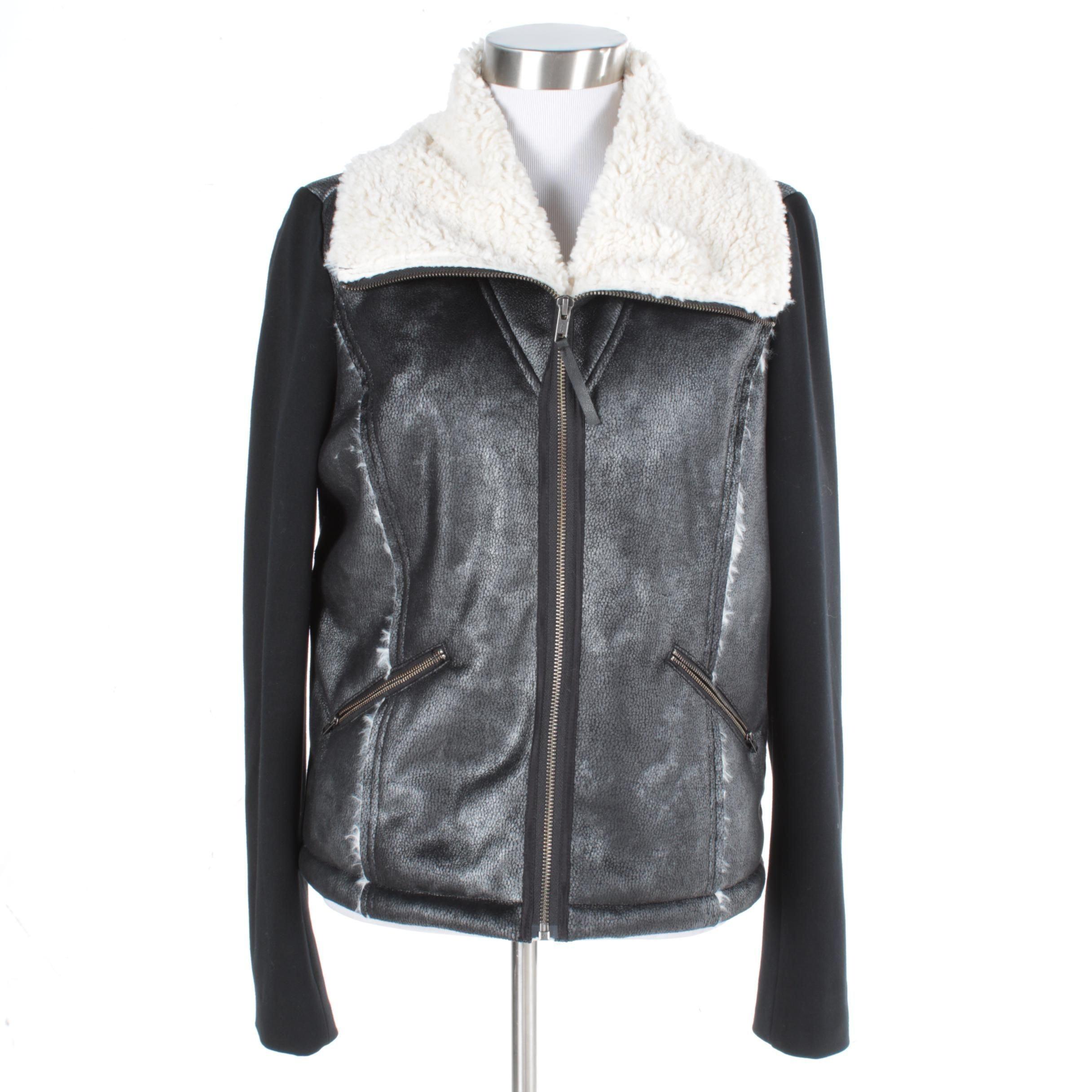 Women's Ella Moss Dimitri Faux Shearling Bomber Jacket