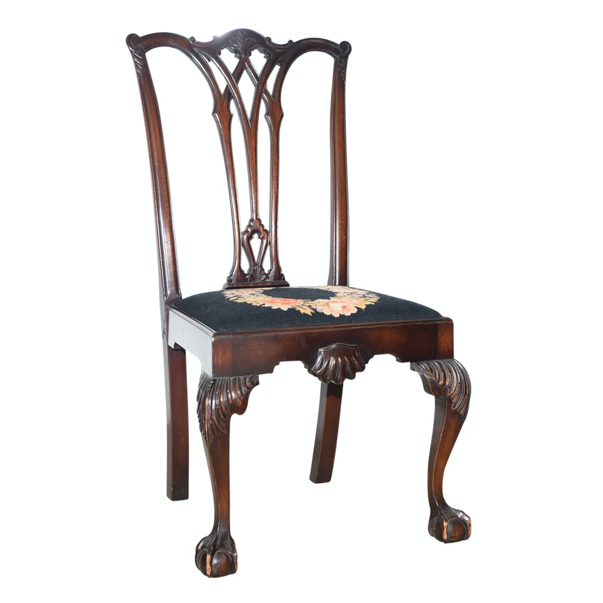 Antique Chippendale Style Mahogany Side Chair ... - Antique Chippendale Style Mahogany Side Chair : EBTH