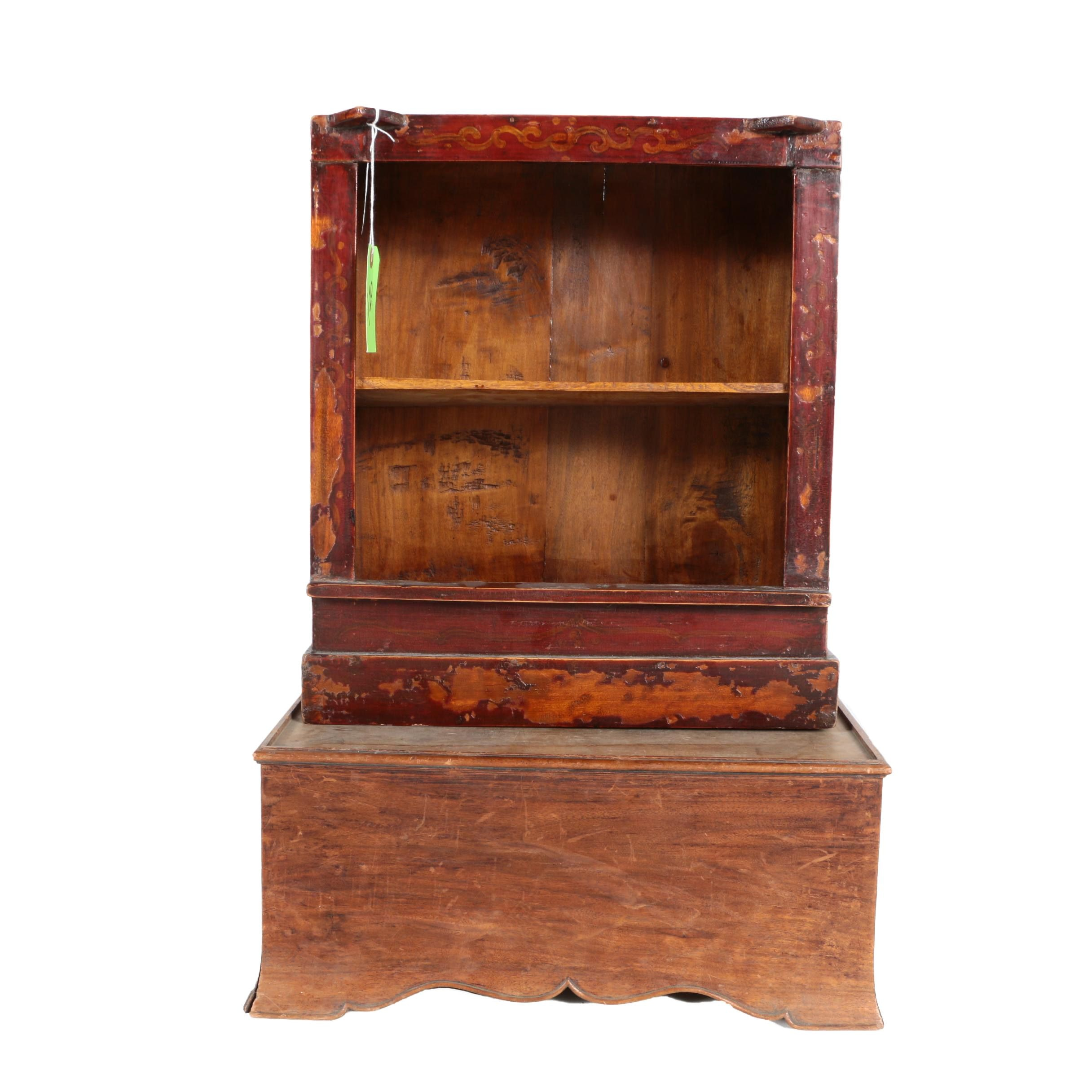 Vintage Bookcase and Stand