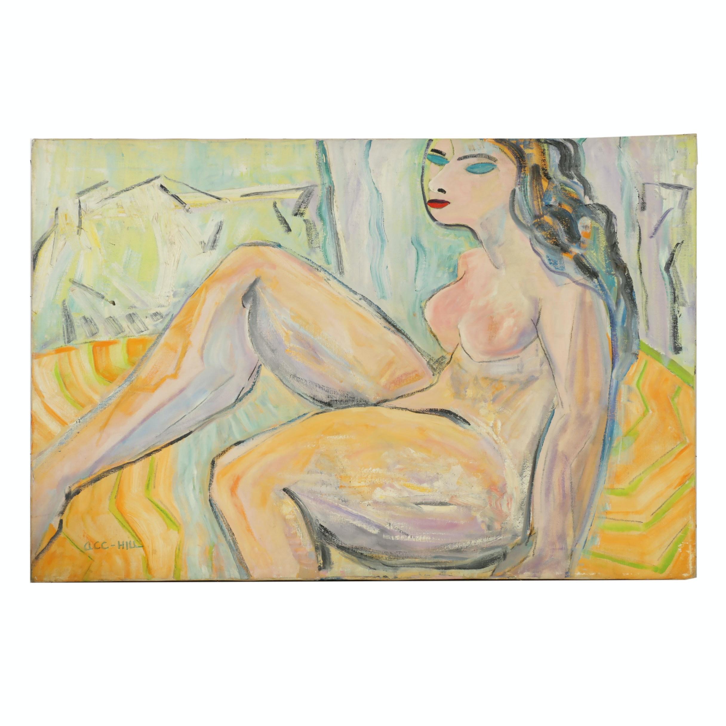 """A.C.C. Hill Oil Painting """"Esmerelda"""""""