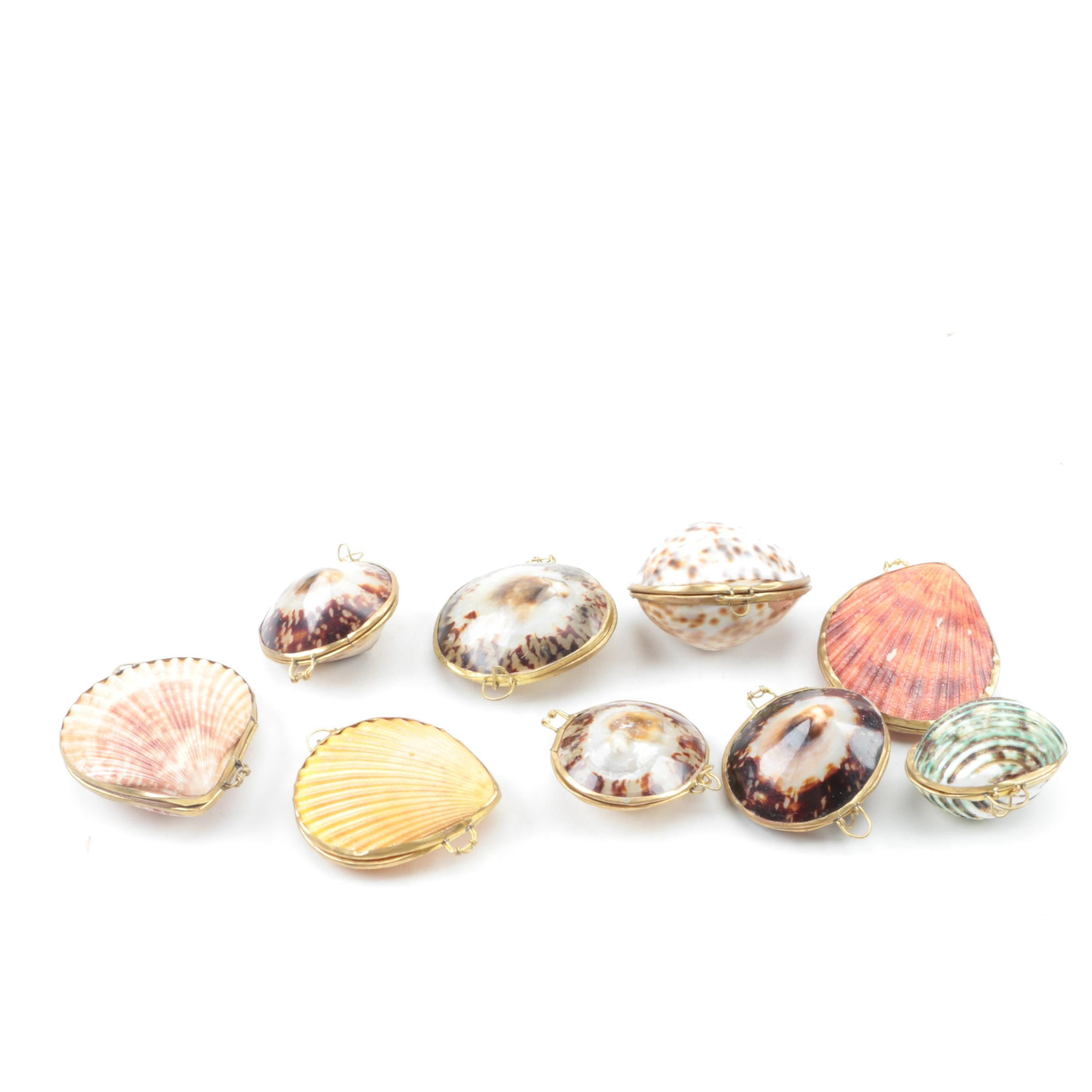 Group of Seashell Trinket Boxes